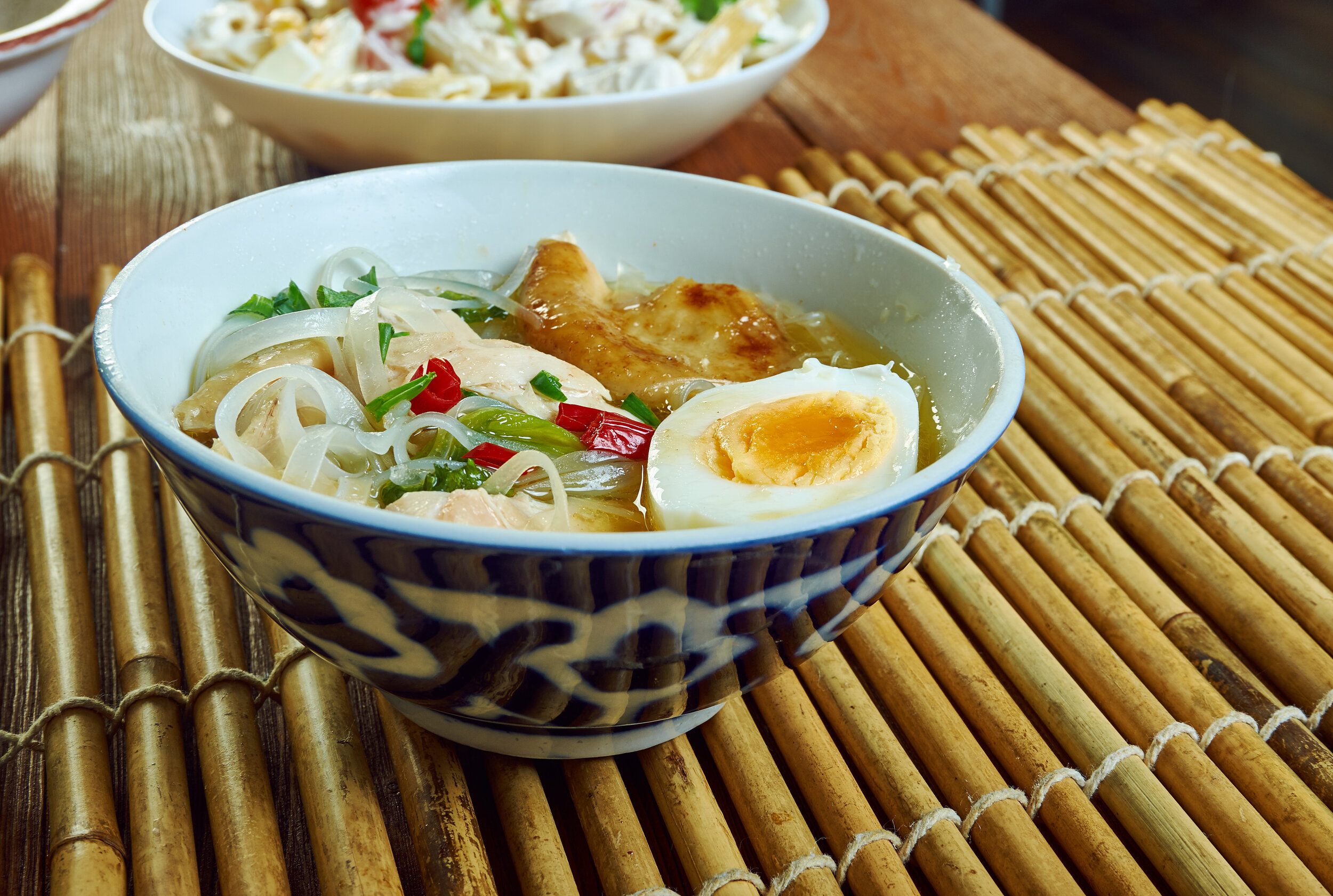 Noodles are a popular street food in the Philippines.