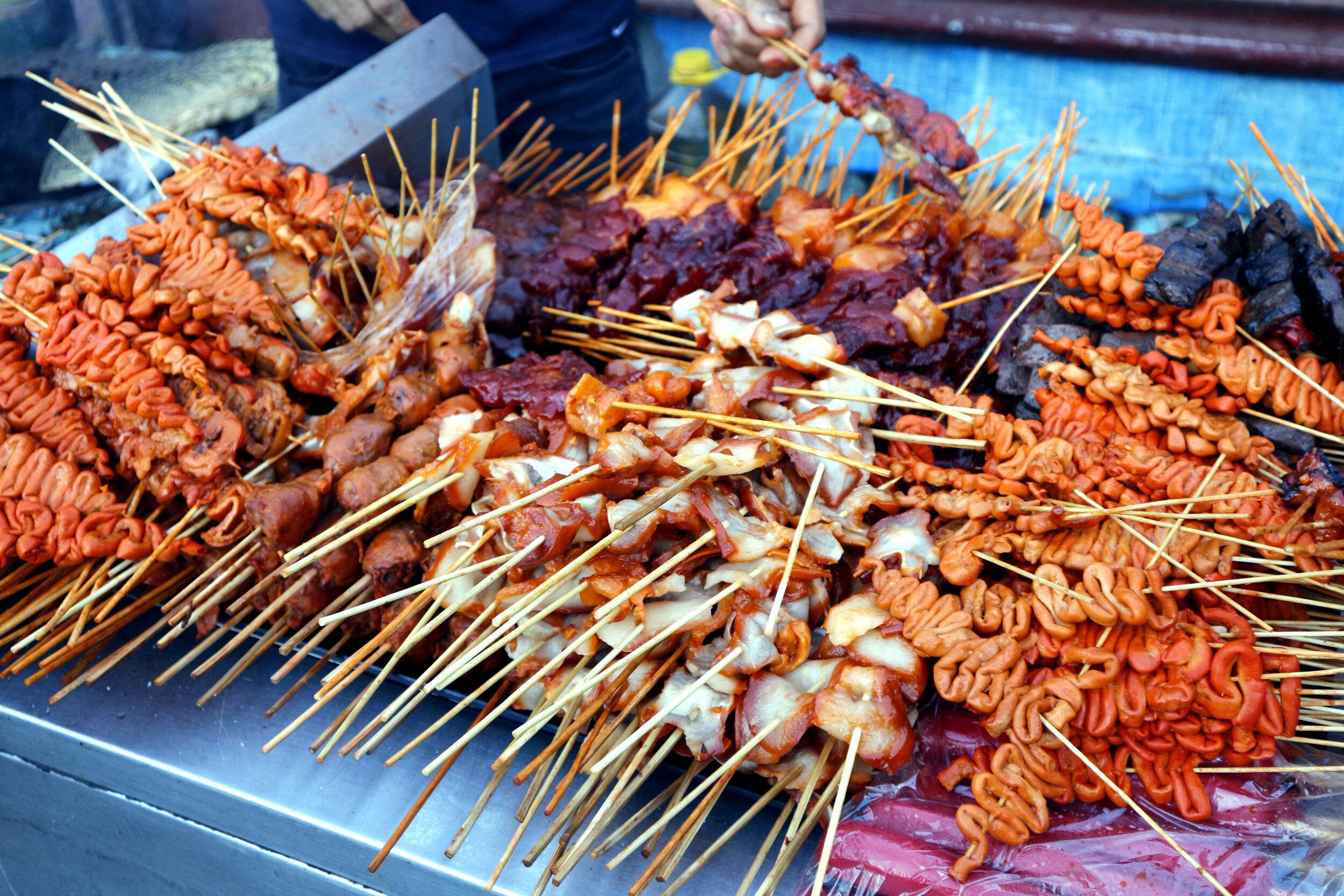Filipino street food.