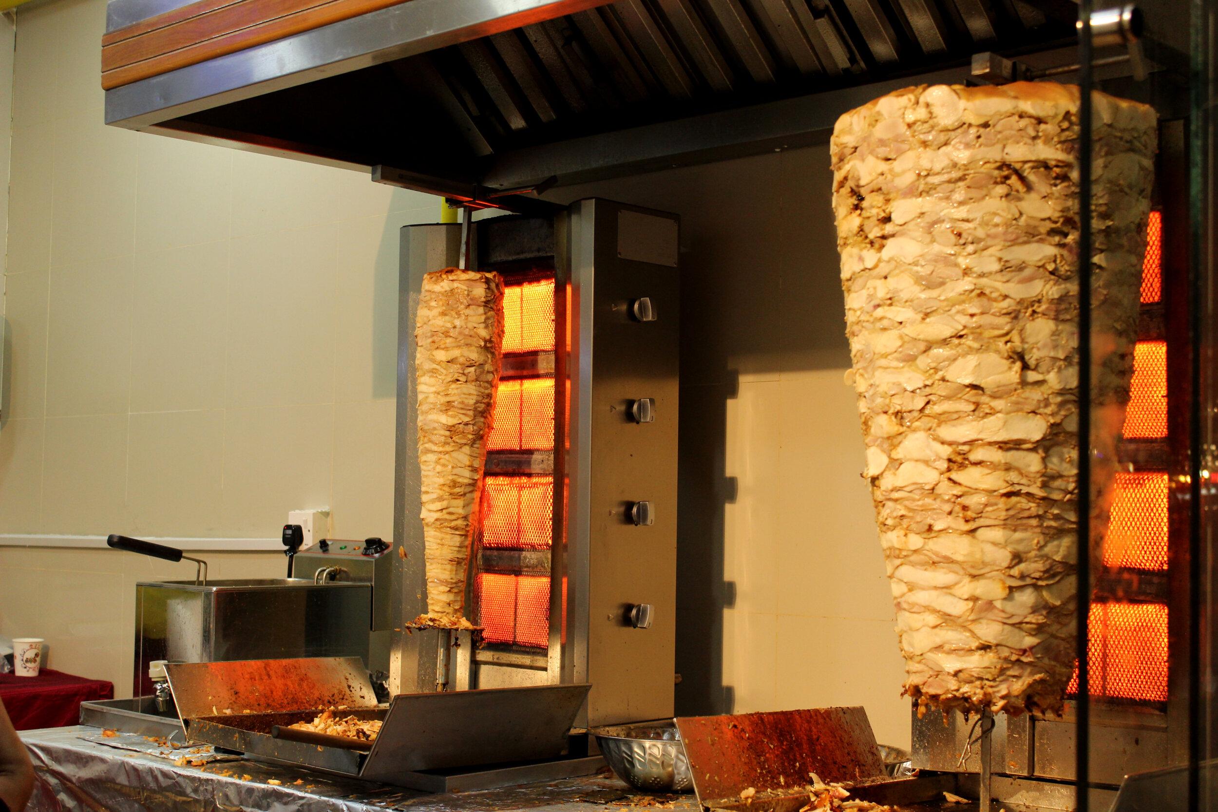 The Israeli street food, shawarma.