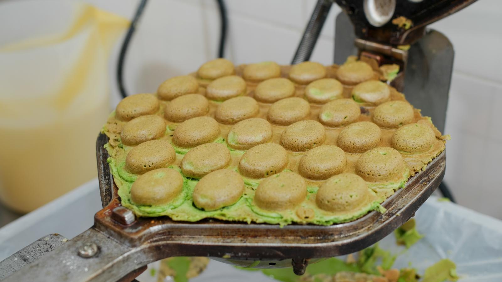 Egg Waffle street food in Hong Kong.
