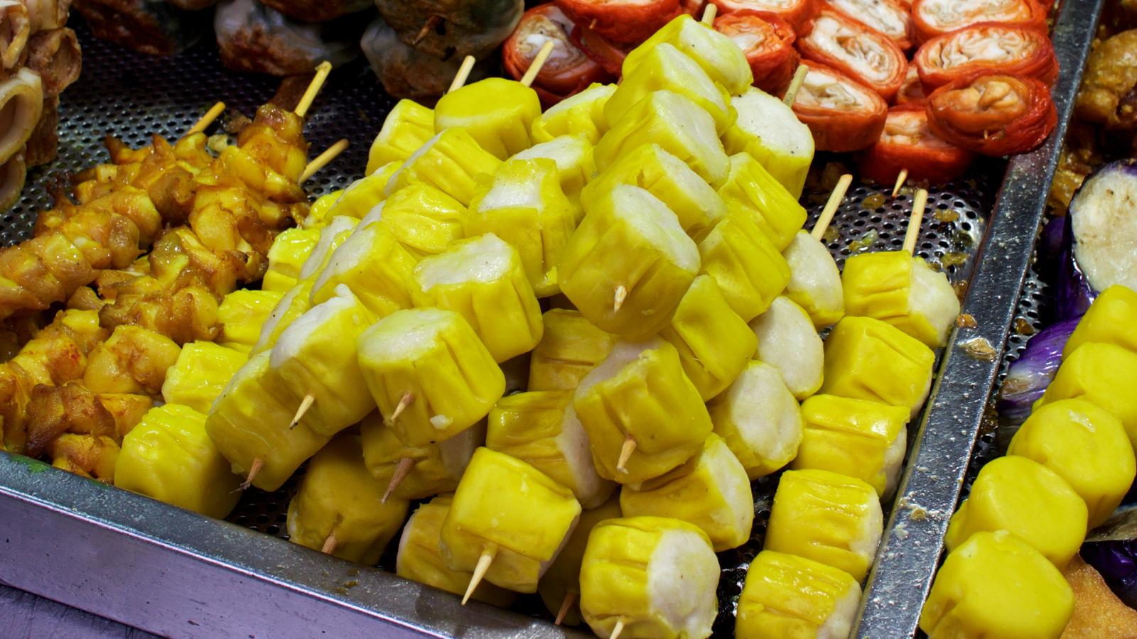 Siu Mai street food in Hong Kong.