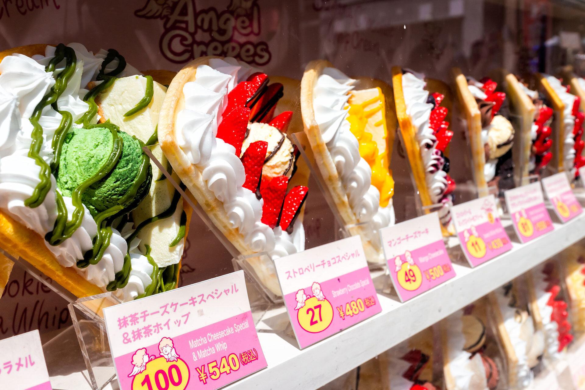 Sweet crepe street food in Tokyo.