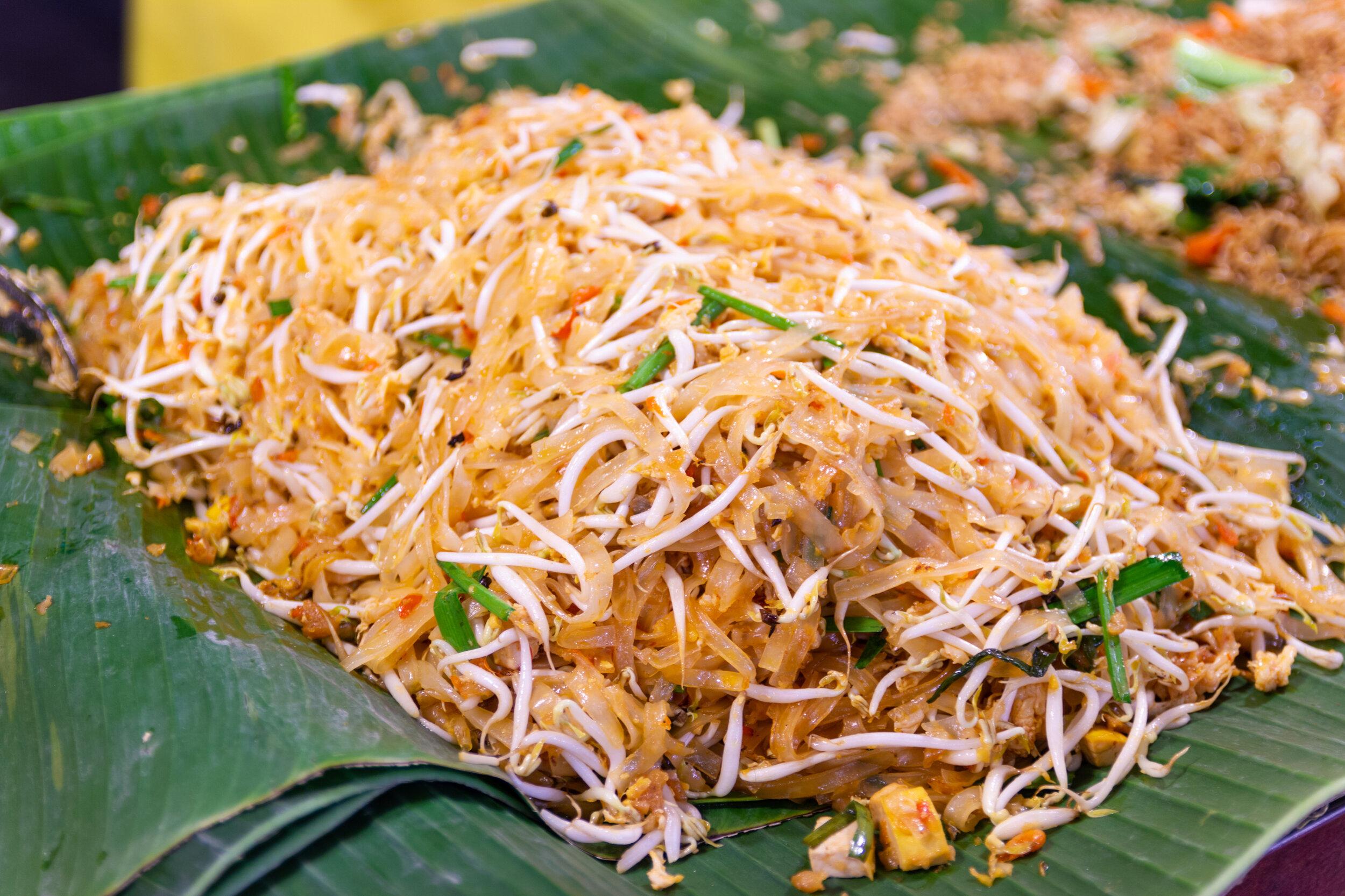 The most famous Thai street food, pad Thai.