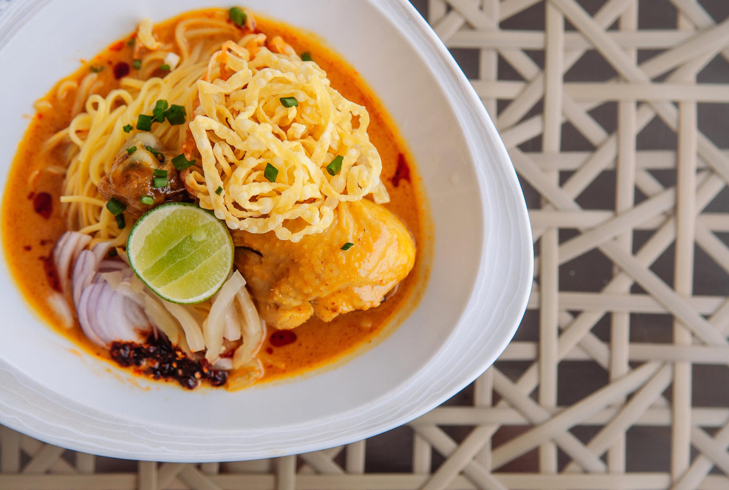 Thai street food noodles.