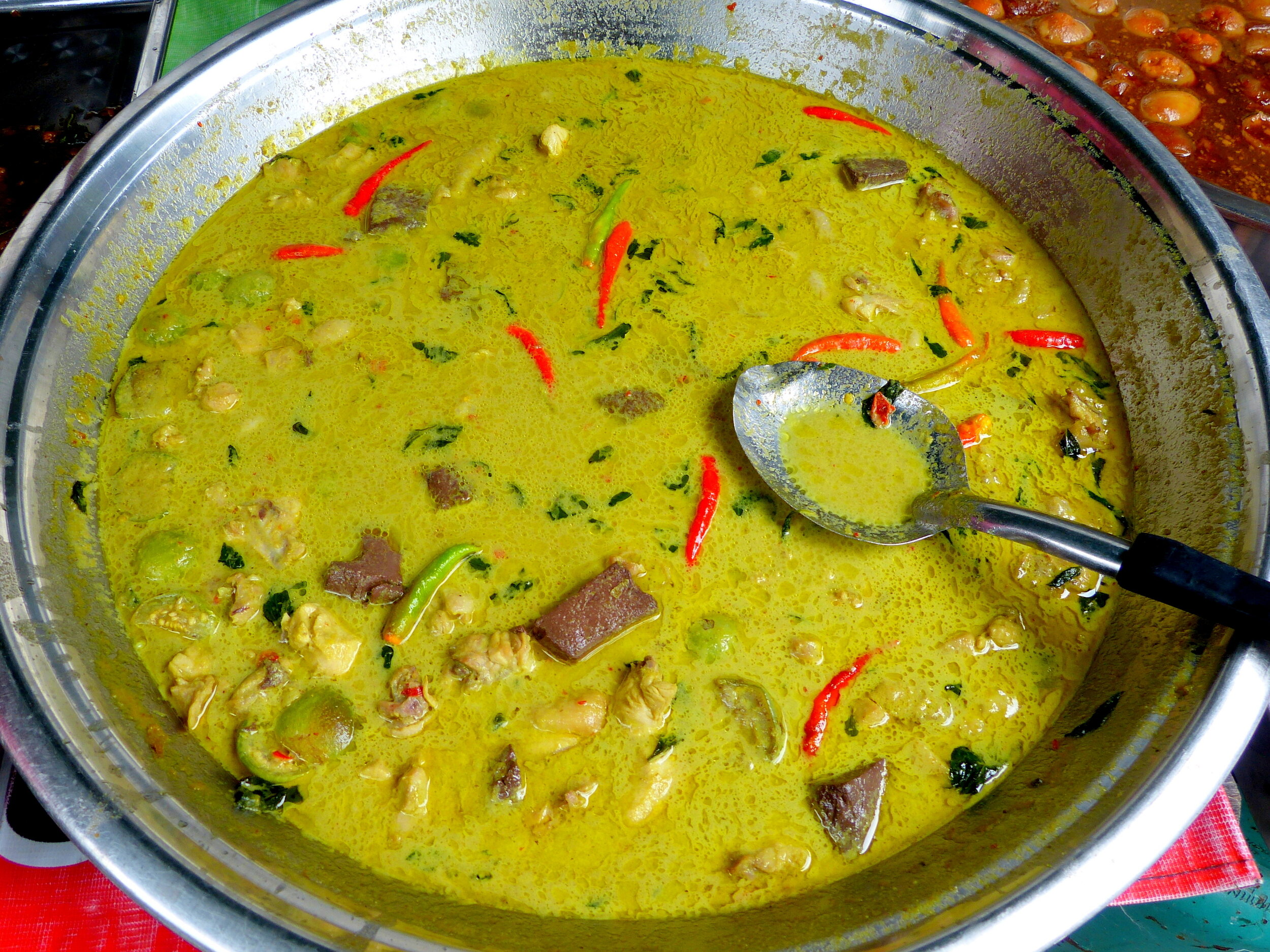 Thai green curry, Bangkok  street food