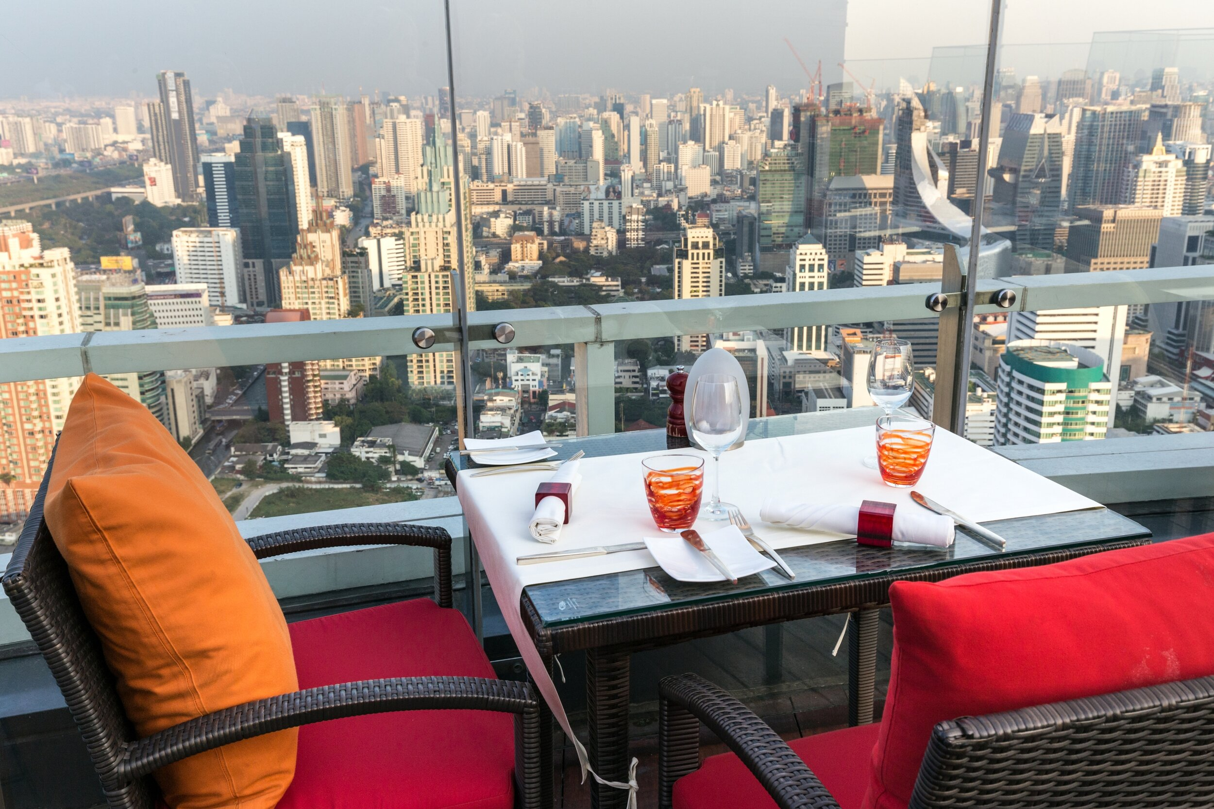 View of Bangkok from Red Sky Bar.