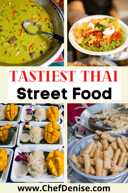 Pin for Thai street food in Bangkok.
