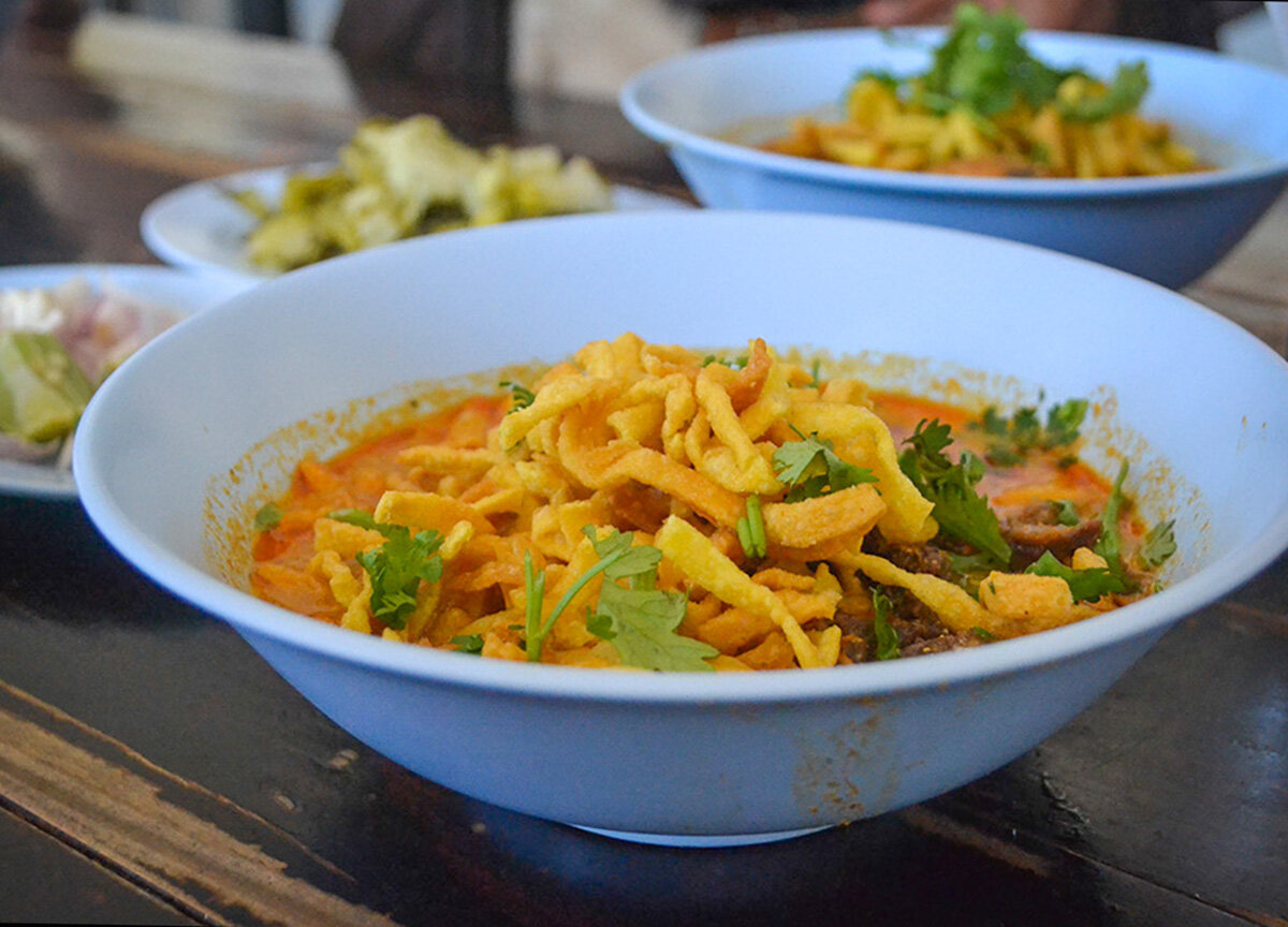 Khao Soi Curry, a popular street food in Chiang Mai.