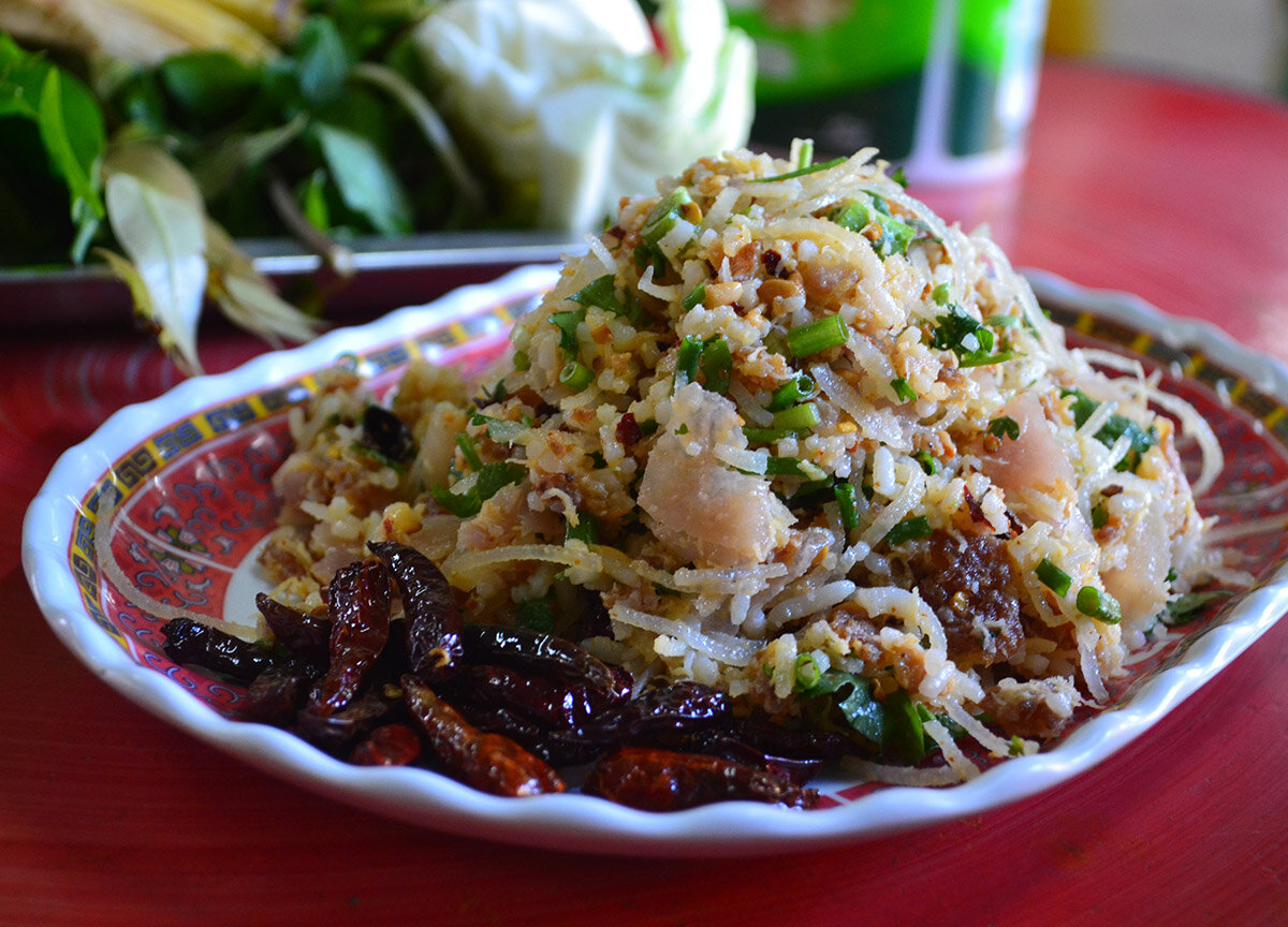A Chiang Mai favorite street food, Naem Balls.