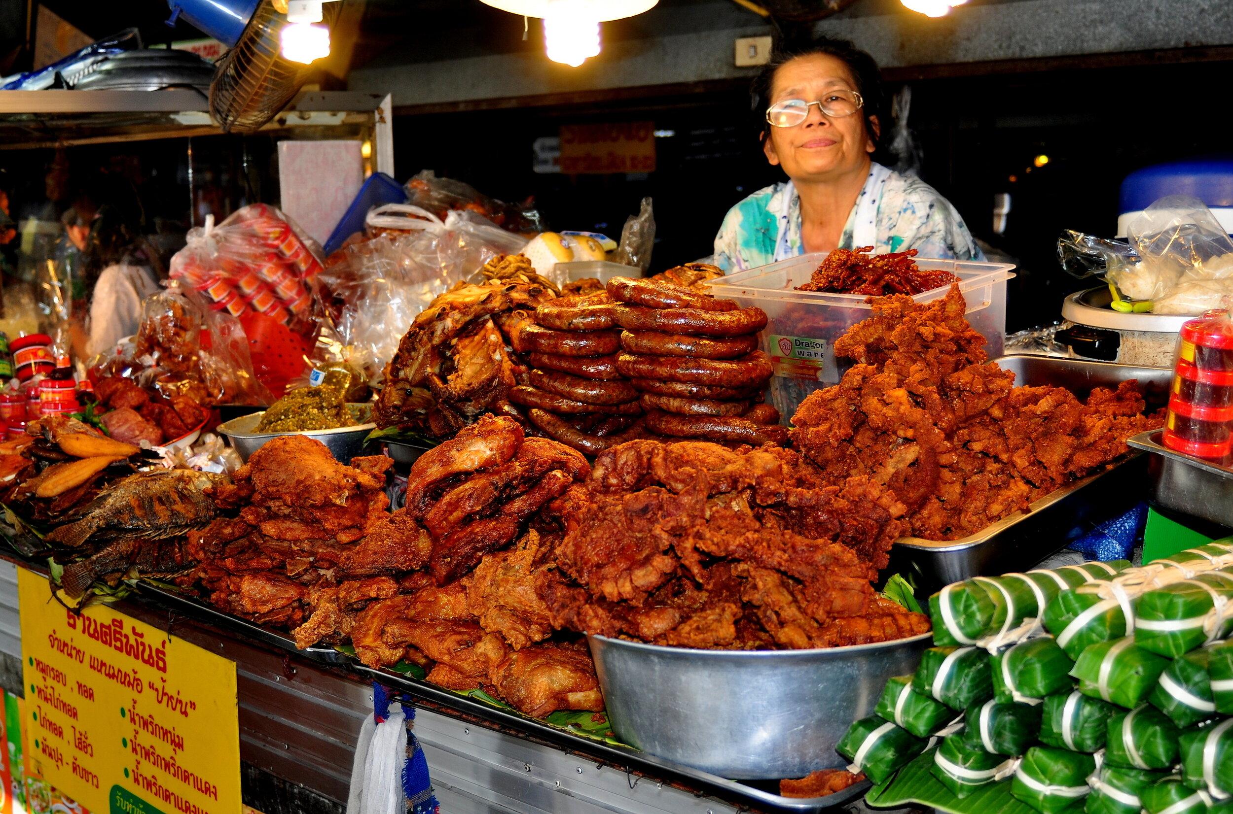 Chiang Mai street food vendor.