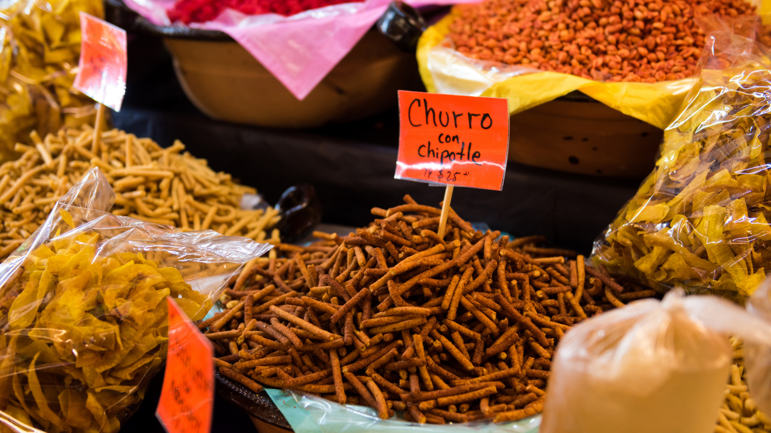 Spices at the best food market Mexico City.