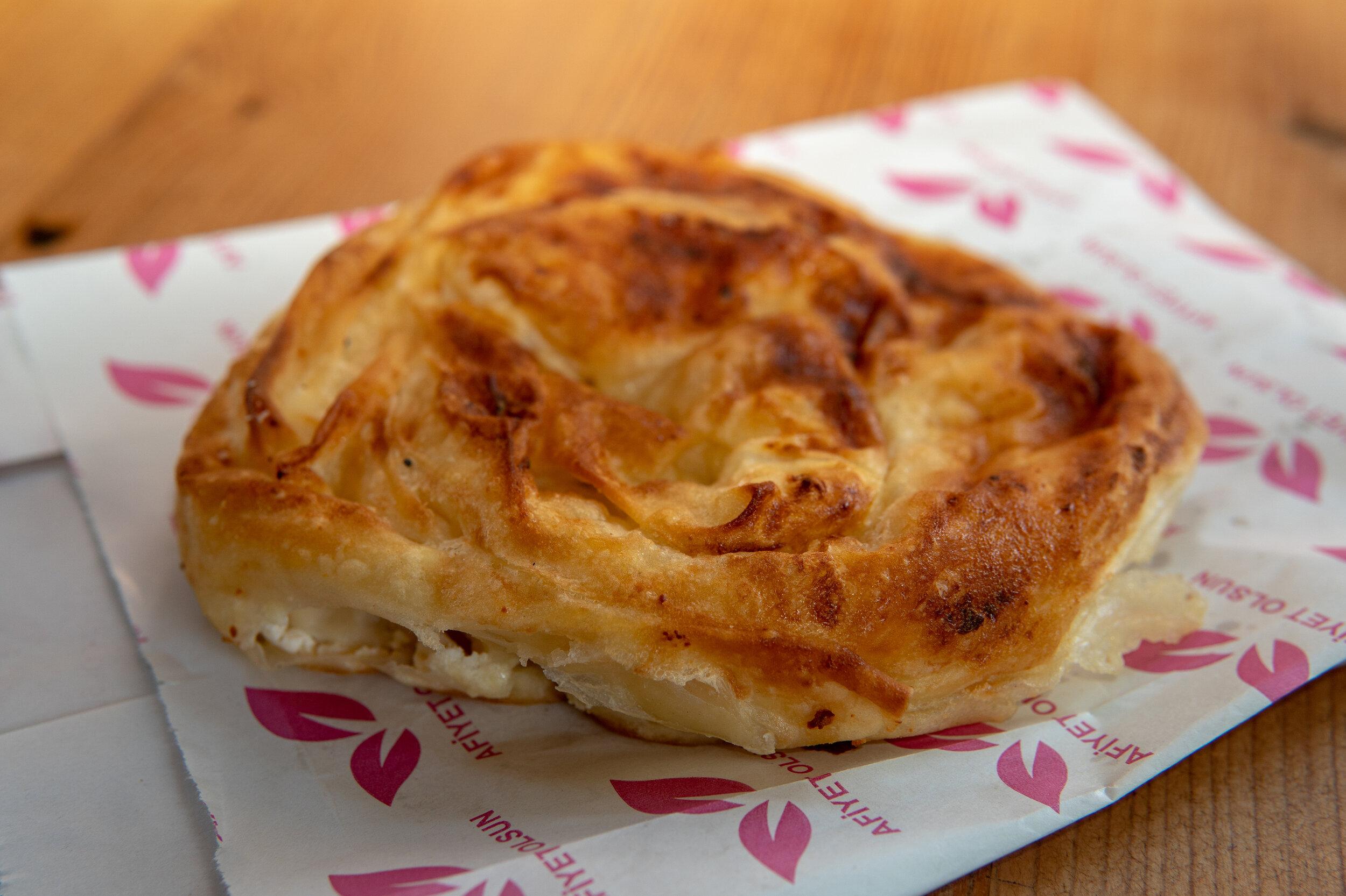 The Turkish pastry Börek makes a delicious Turkish breakfast.