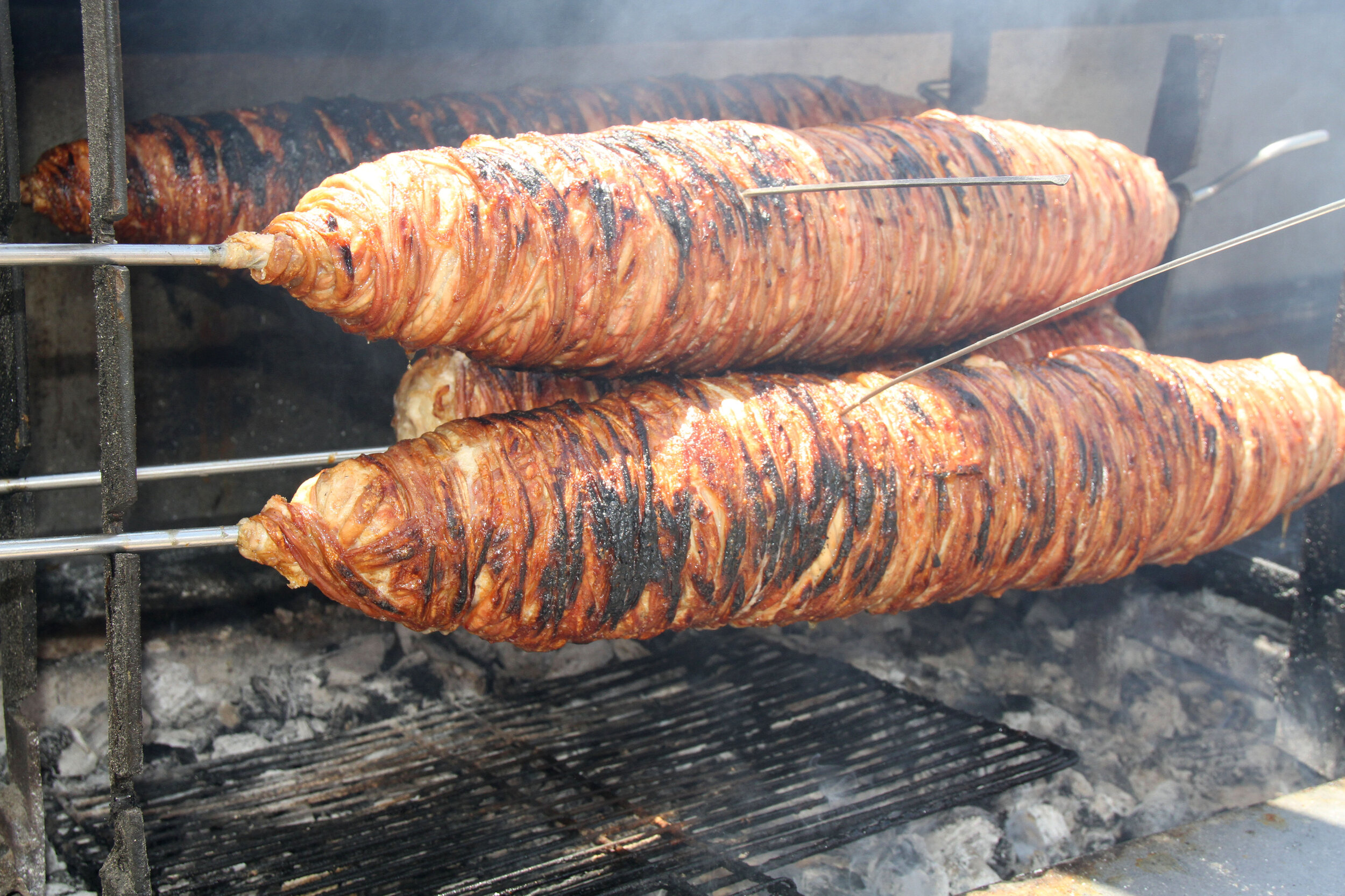 The traditional Turkish food kokorec is a must try food food in Istanbul