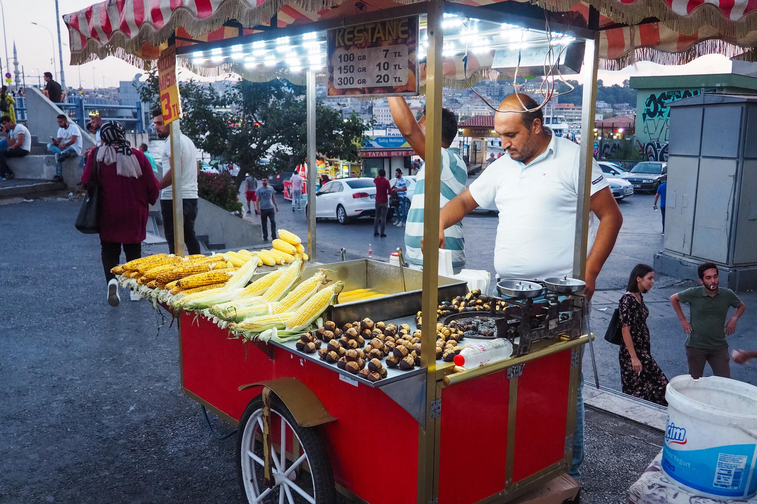 Misir Vegetarian Street Food in Istanbul.