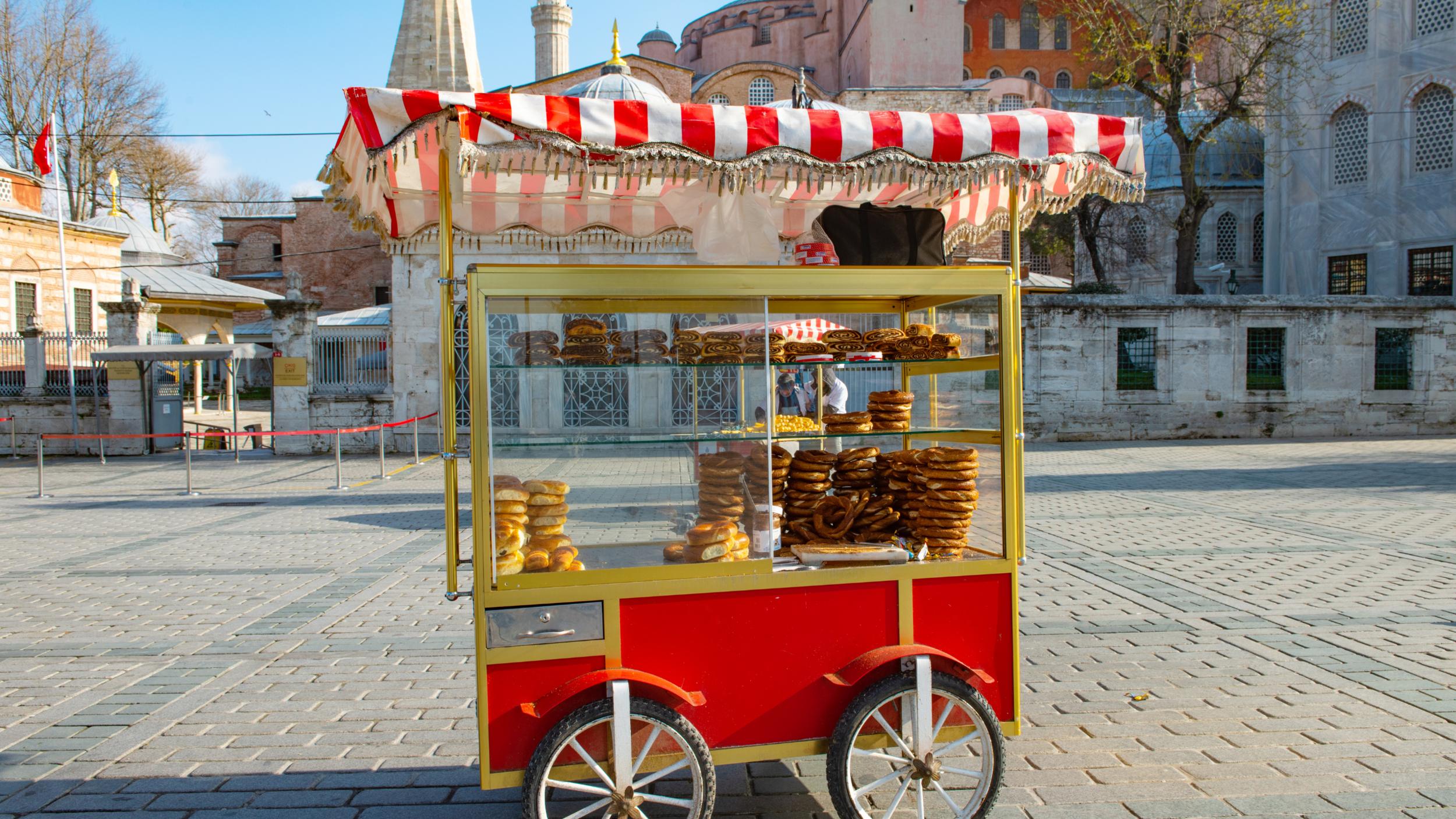 Turkish street food in Istanbul.