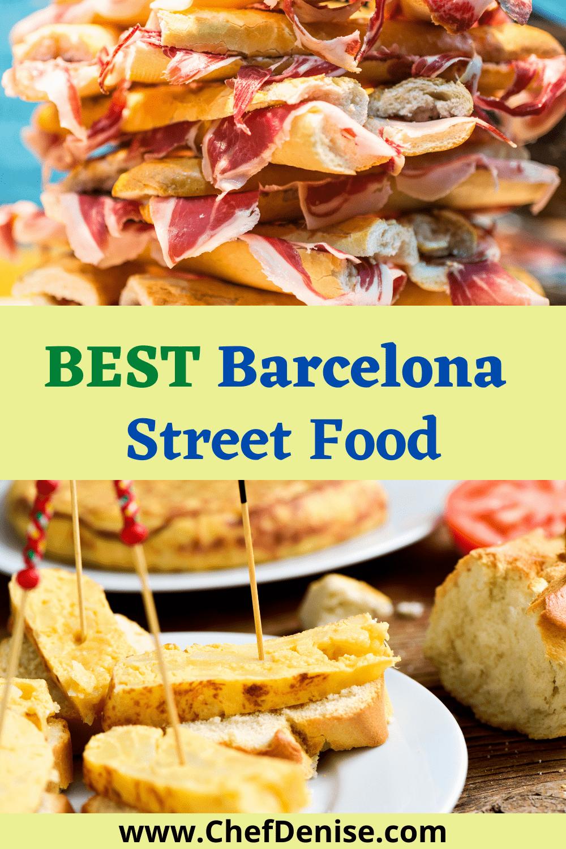 Barcelona street foods tortilla and bocadillo