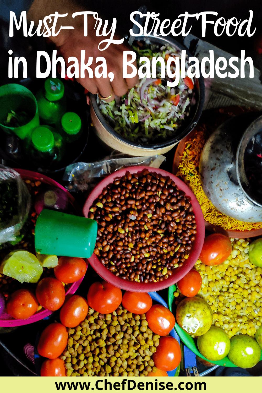 Must-try Dhaka street food Pin.