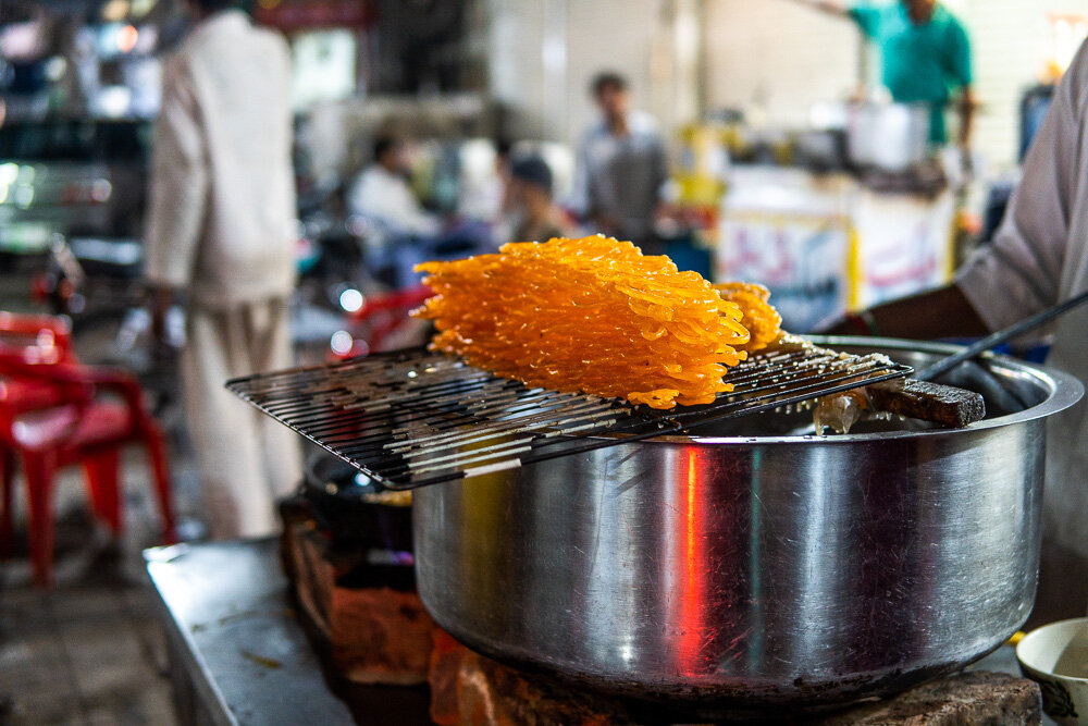 Jalebi are famous sweets in Delhi