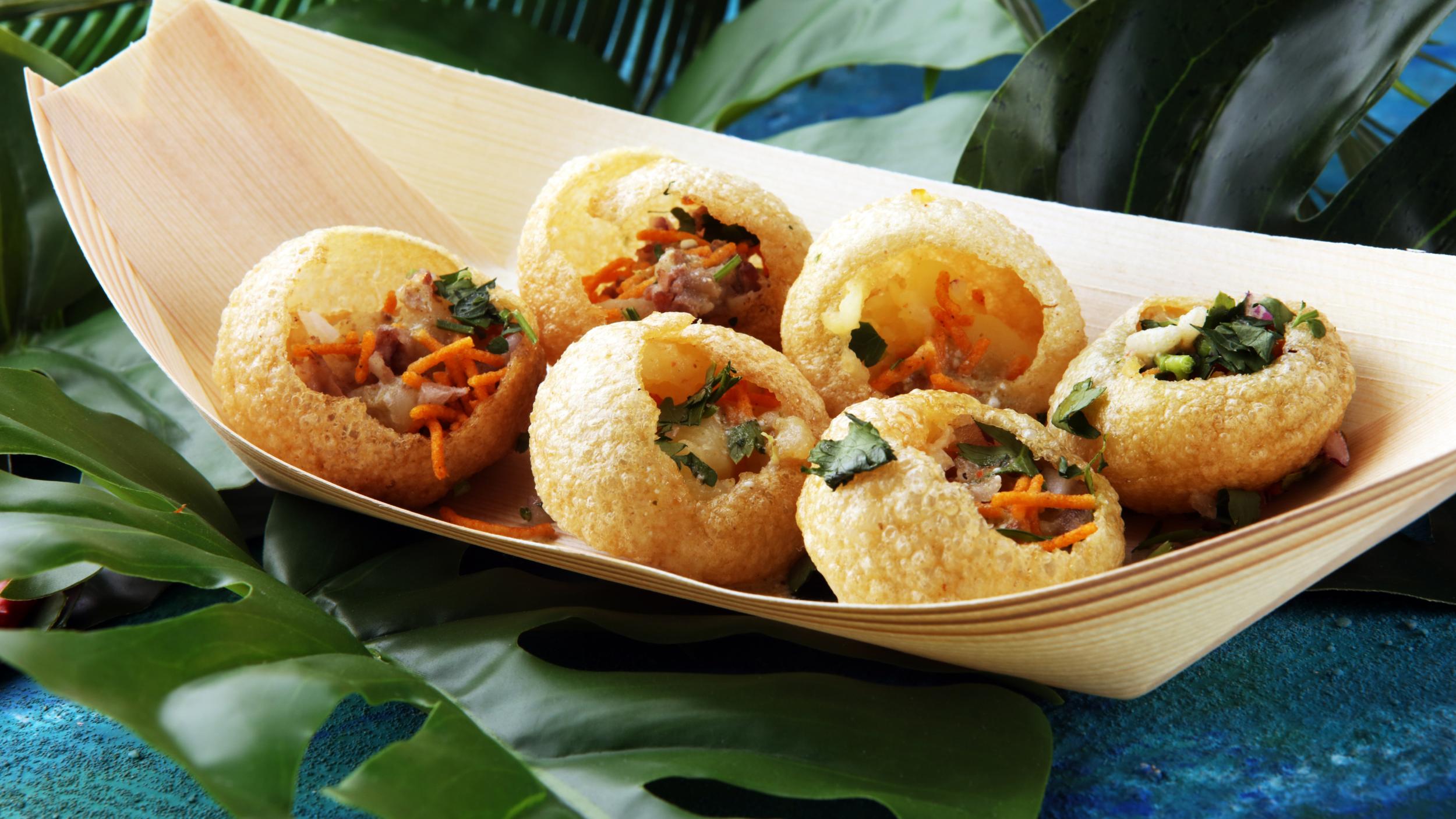 Pani Puri are a staple food of Delhi.