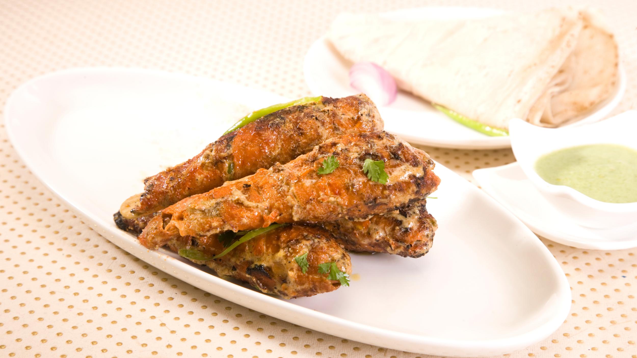 Soya Chaap is a typical vegetarian dish of New Delhi cuisine.
