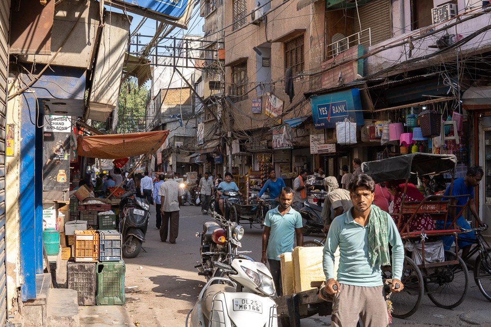 Chandni Chowk Market a great place for street food in Delhi.