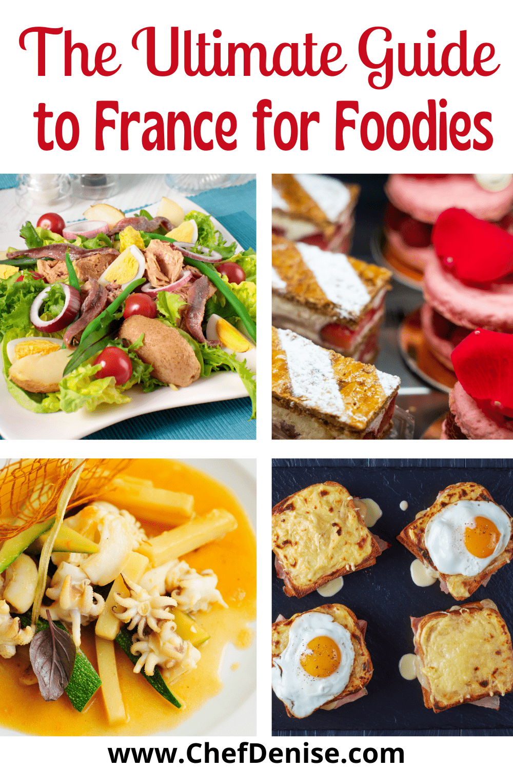 Pin for foodie guide to France.