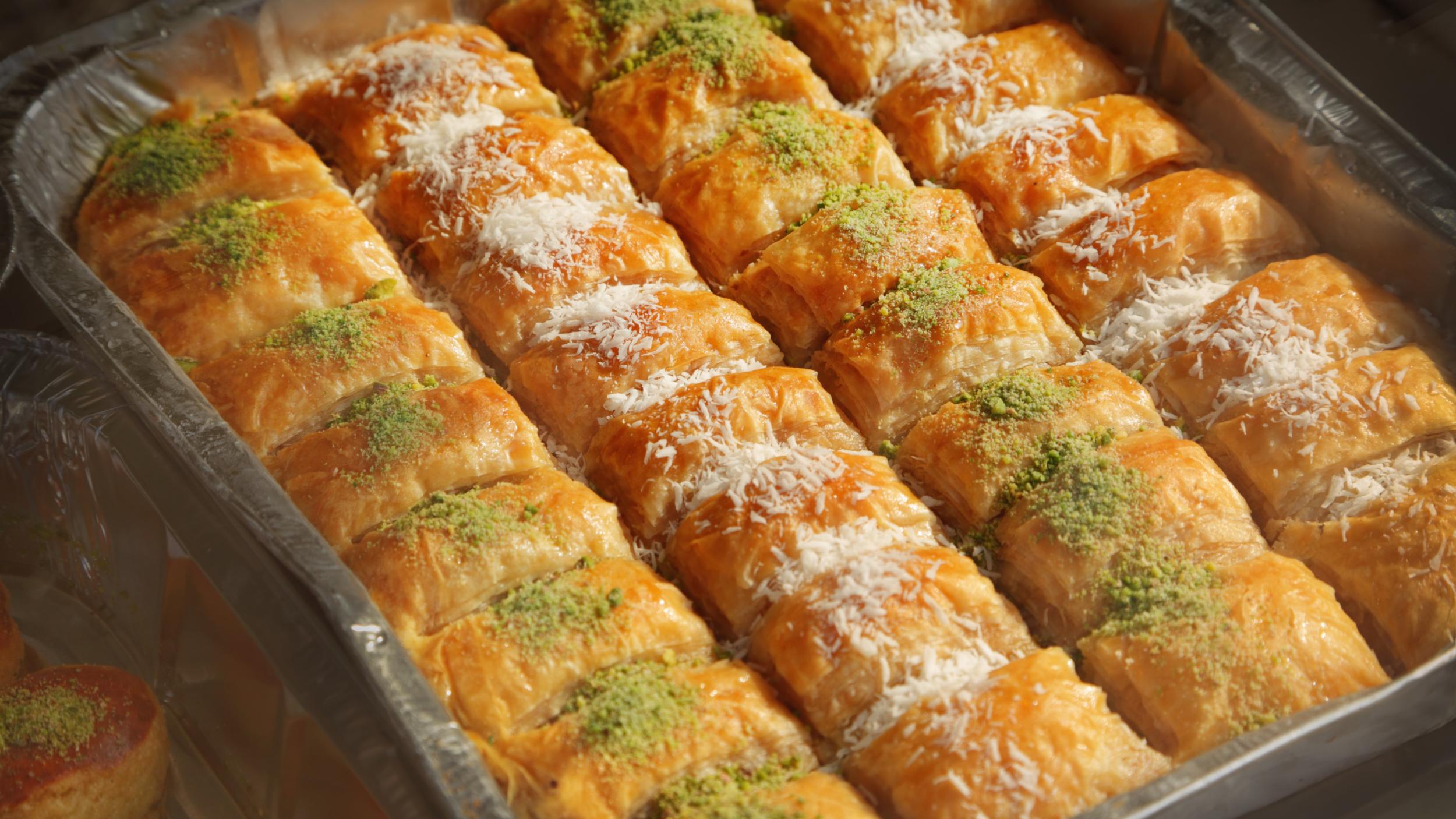 The popular Israeli dessert, Baklava.