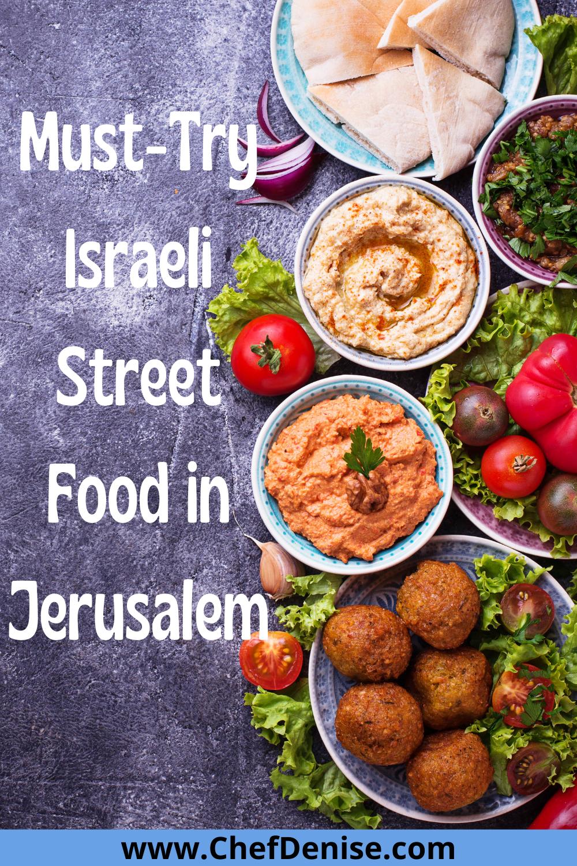 Pin for Israeli street food in Jerusalem.