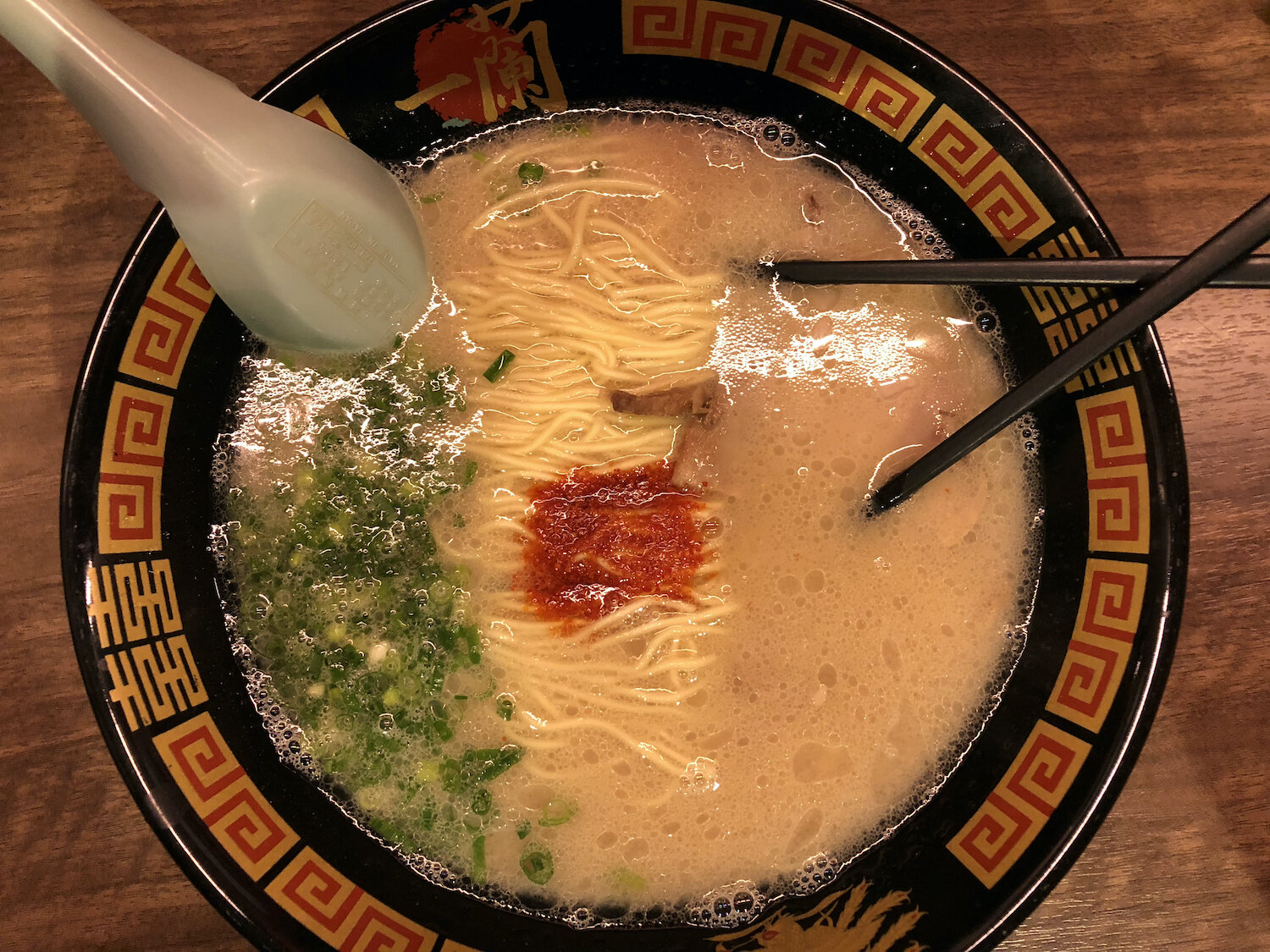 Famous Japanese Food, Ramen at the Osaka restaurant, ICHIRAN Dotonbori.