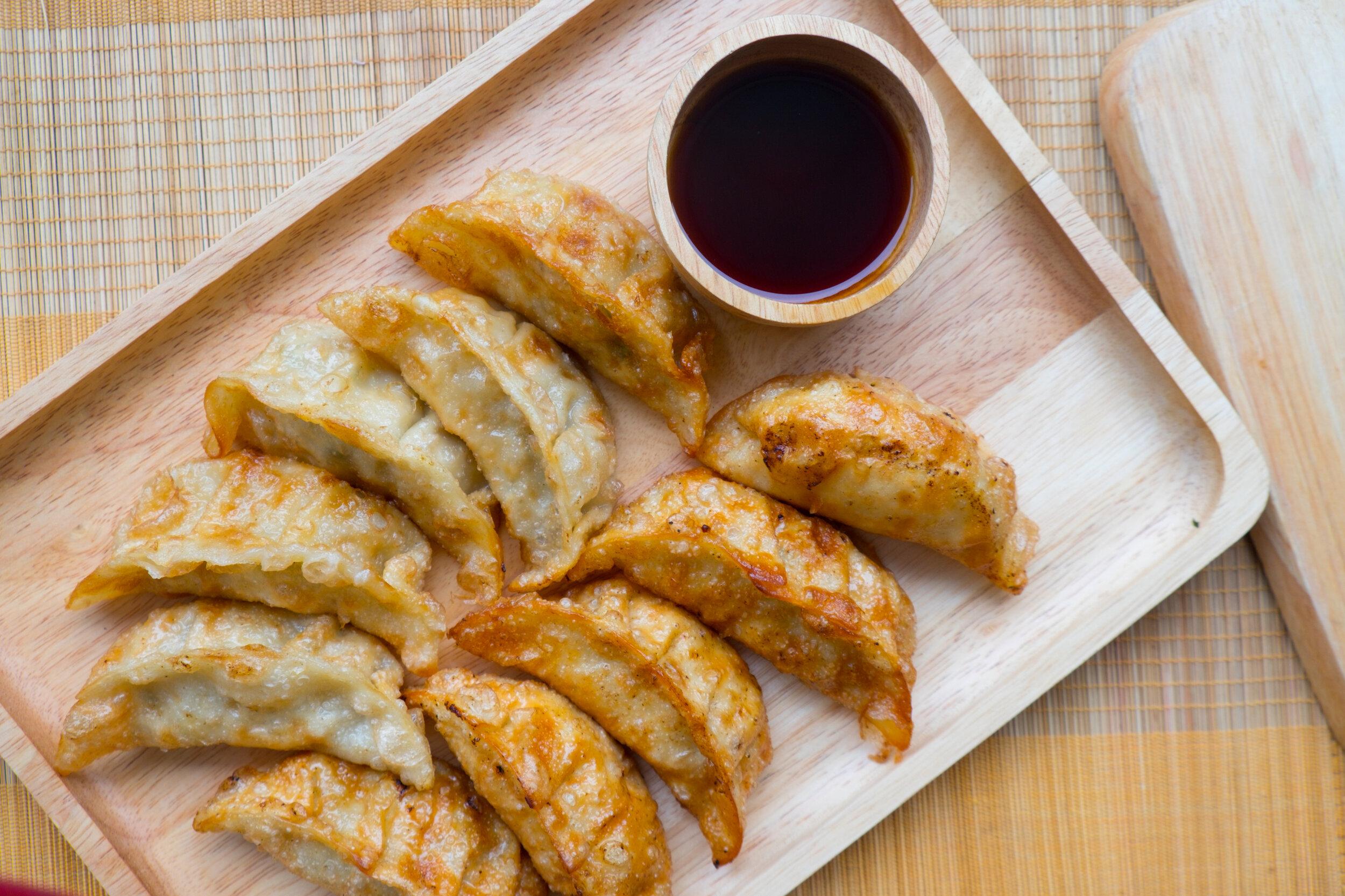Gyoza, Japanese dumplings, are a staple food in Osaka.