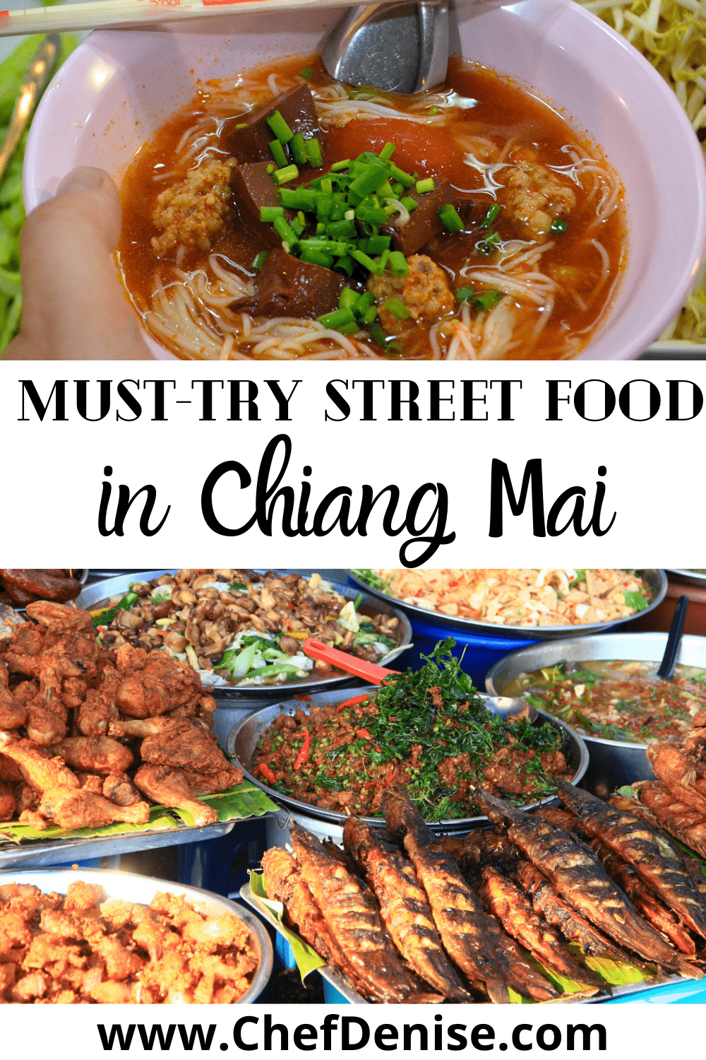 Pin for street food in Chiang Mai.