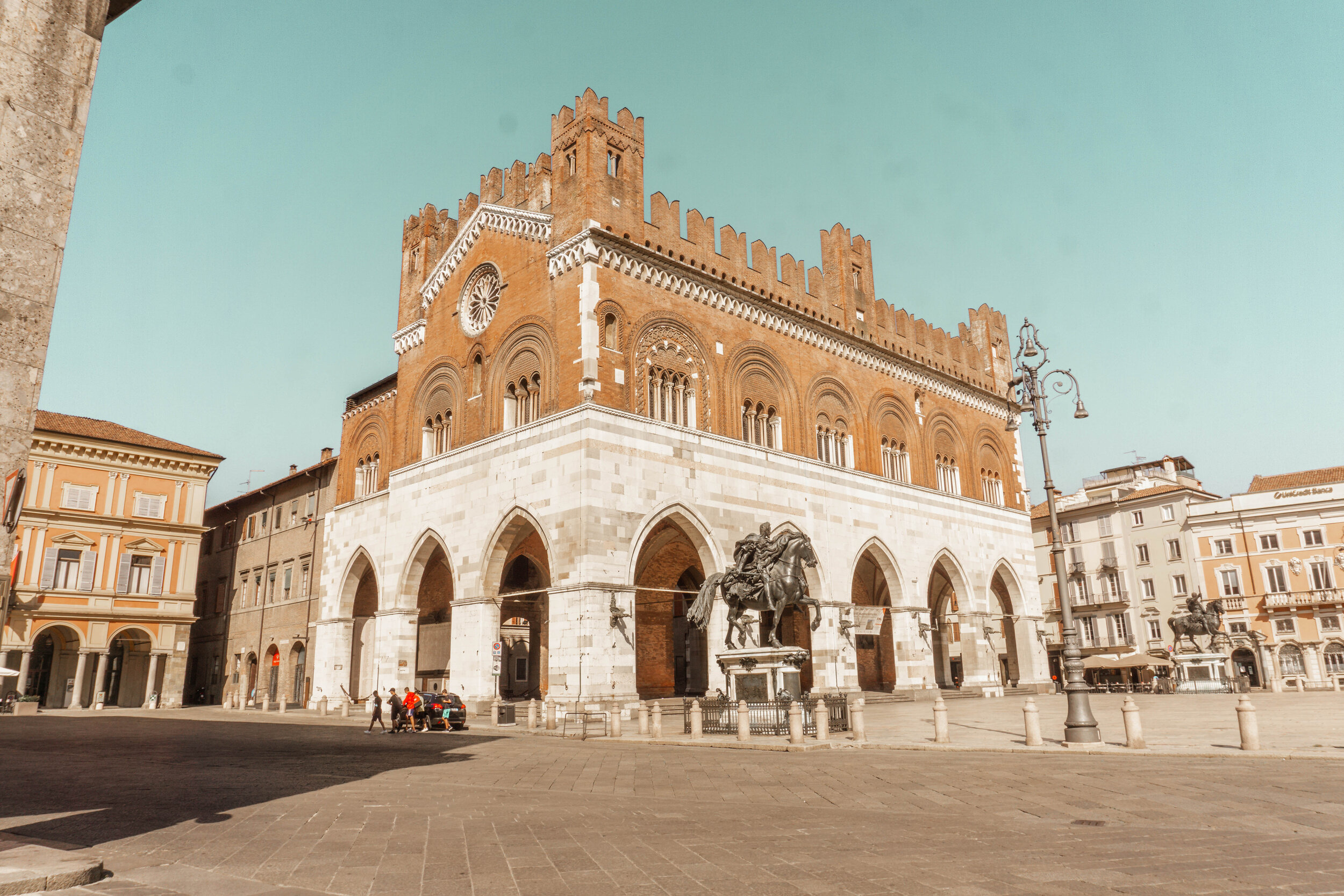 In addition to delicious food, Piacenza offers beautiful historic sights like this main square.