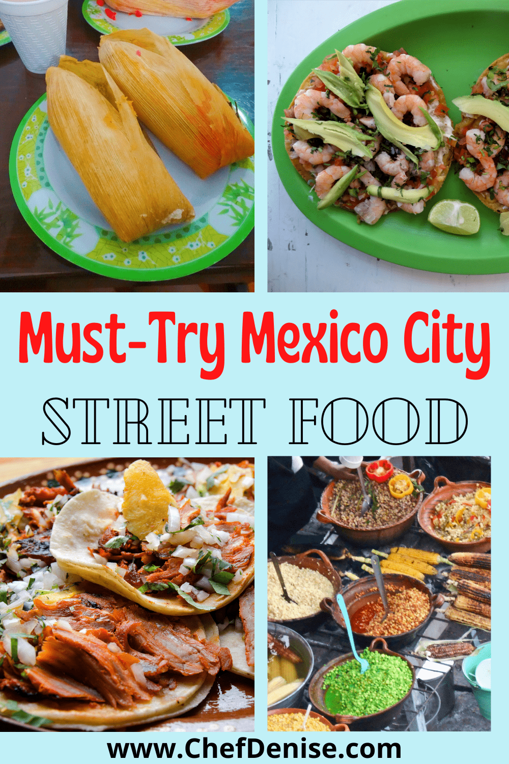 Pin for Mexico City Street Food.