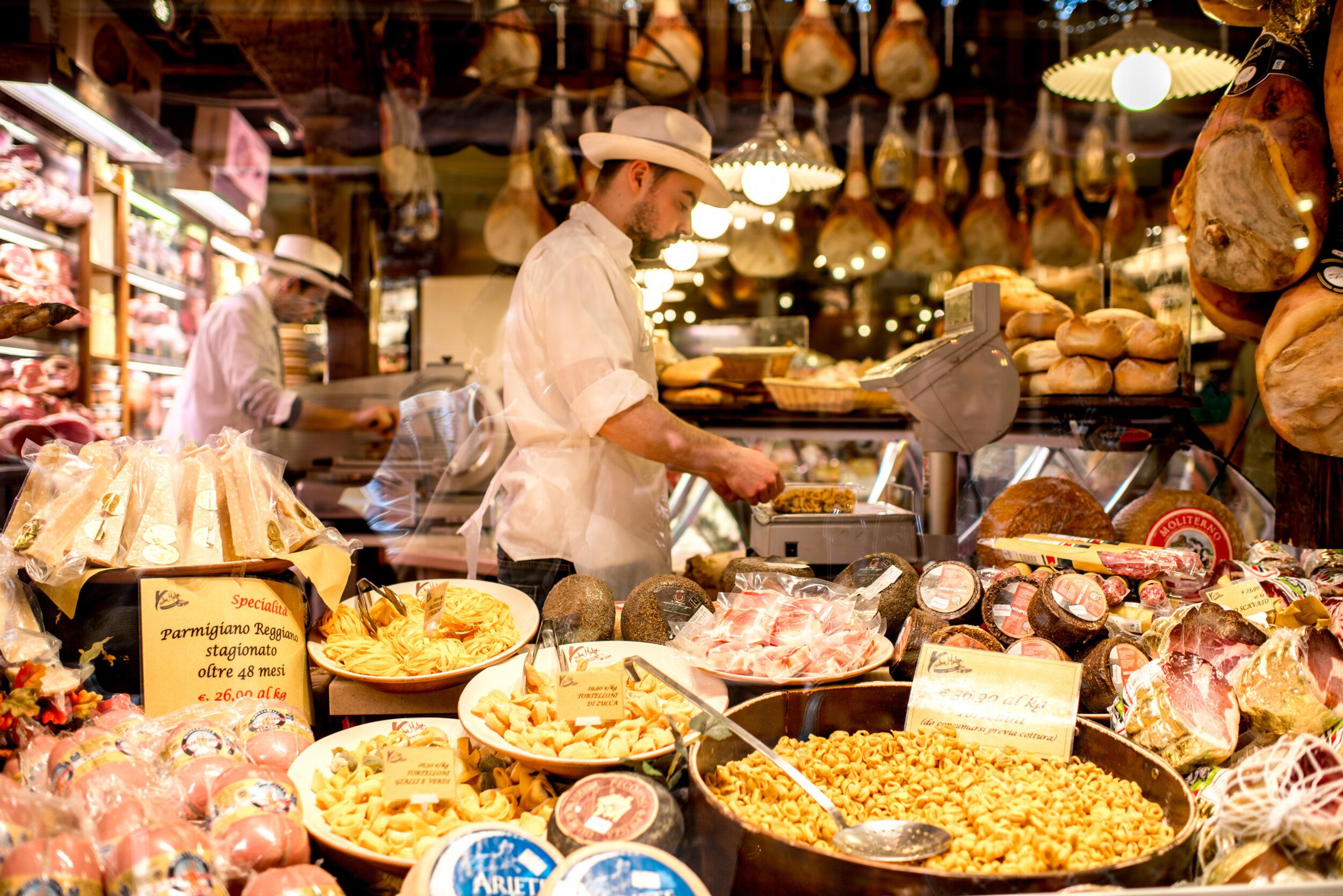 The regional specialty foods of Emilia-Romagna.