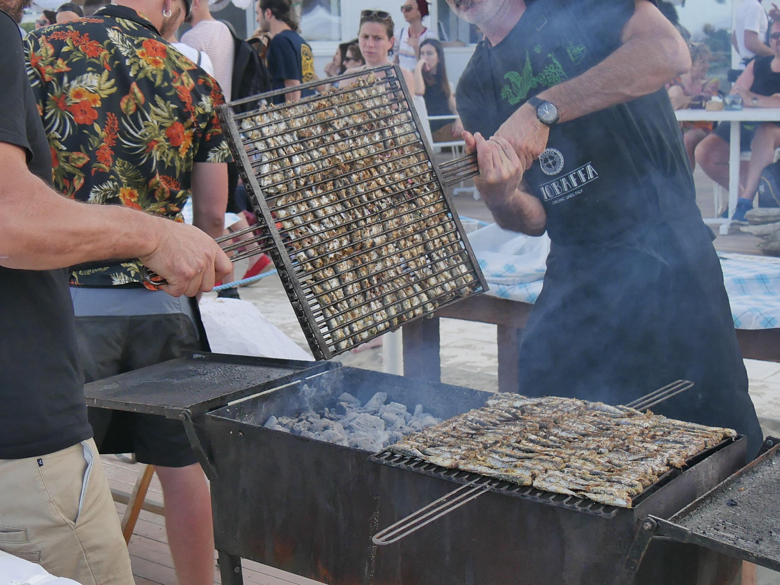 Seafood Grill at a Rimini summer festival.
