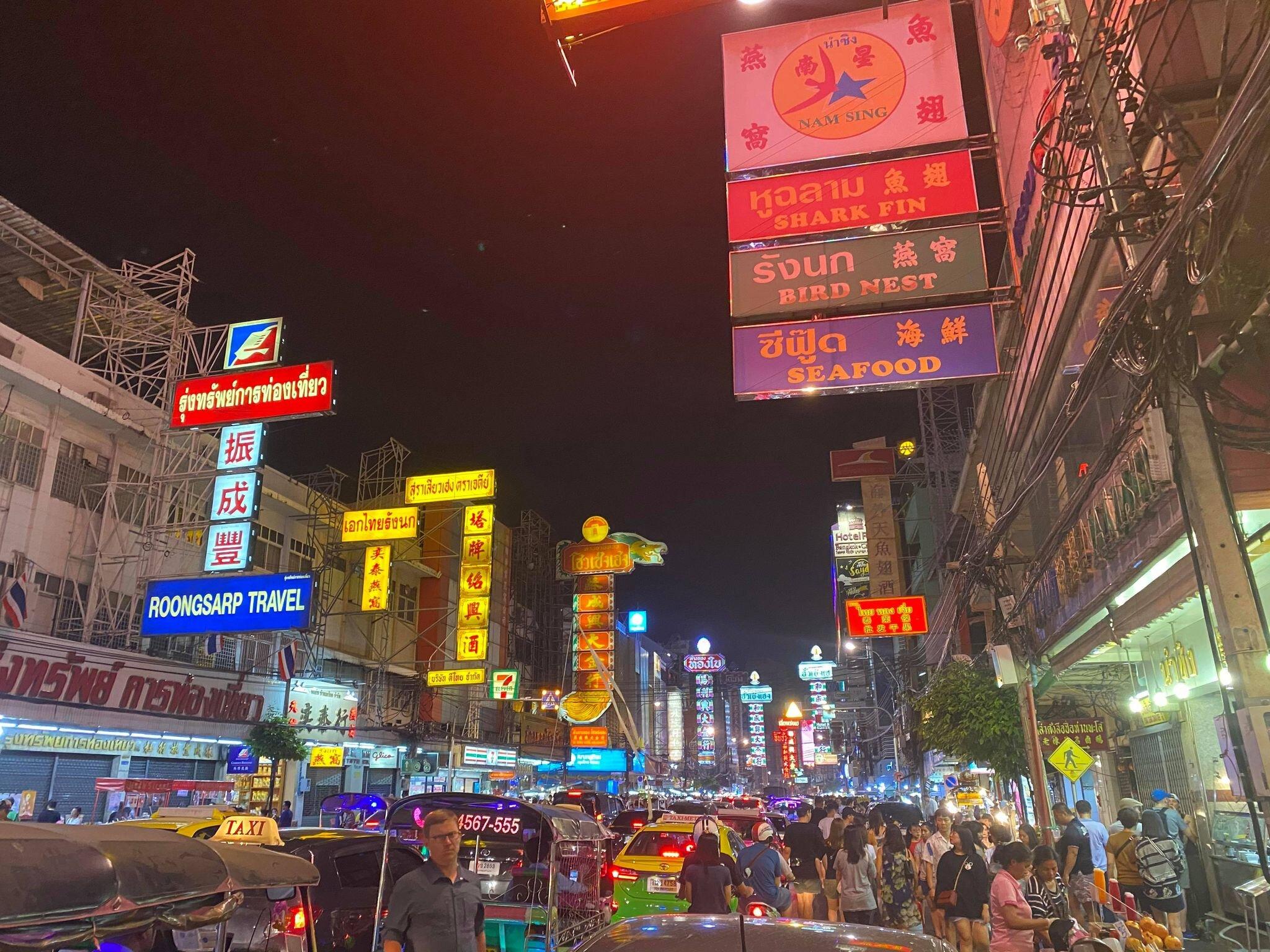 Yaowarat Road, also known as Chinatown in Bangkok