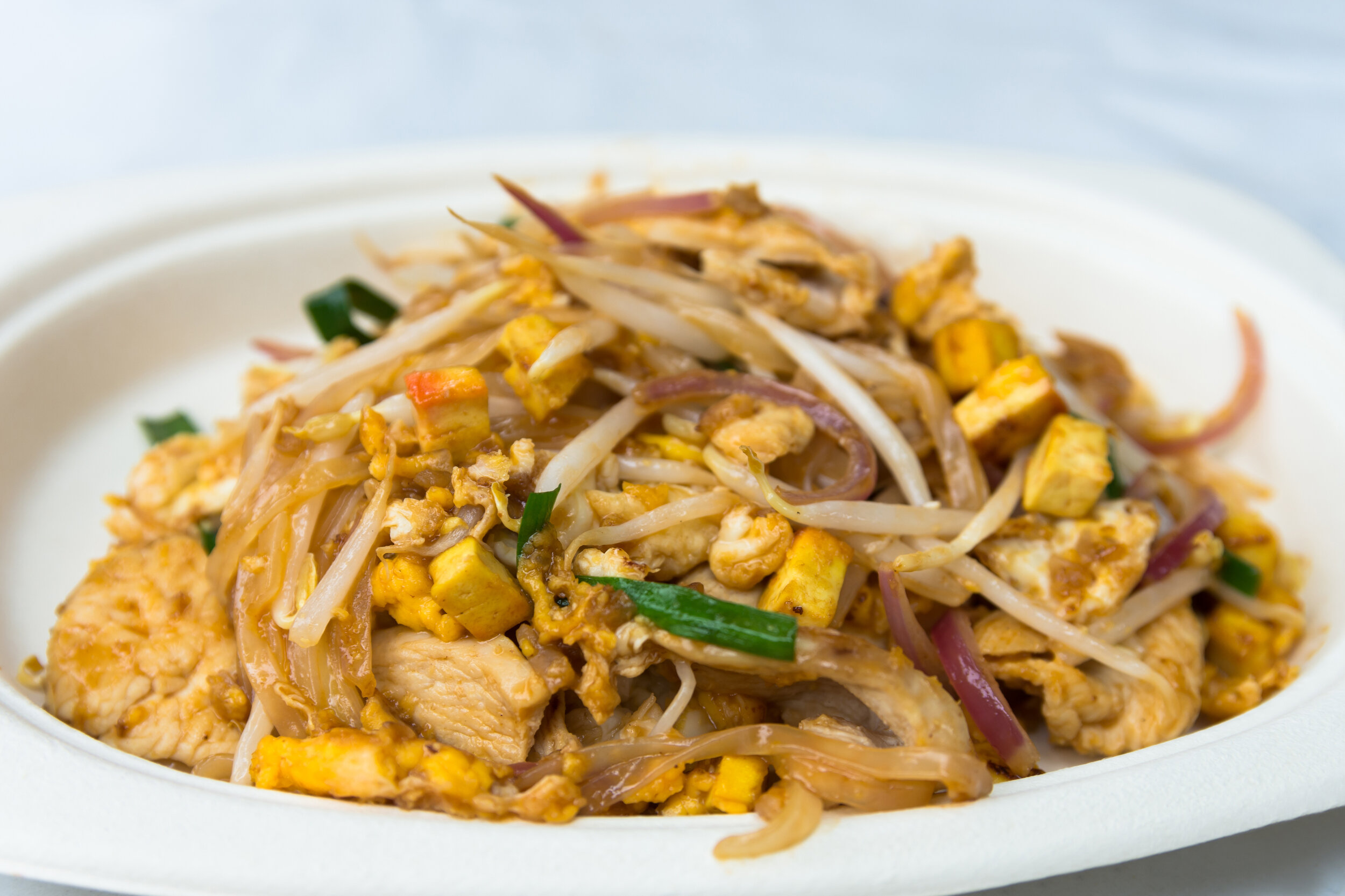 Pad Thai, the most famous food in Bangkok.