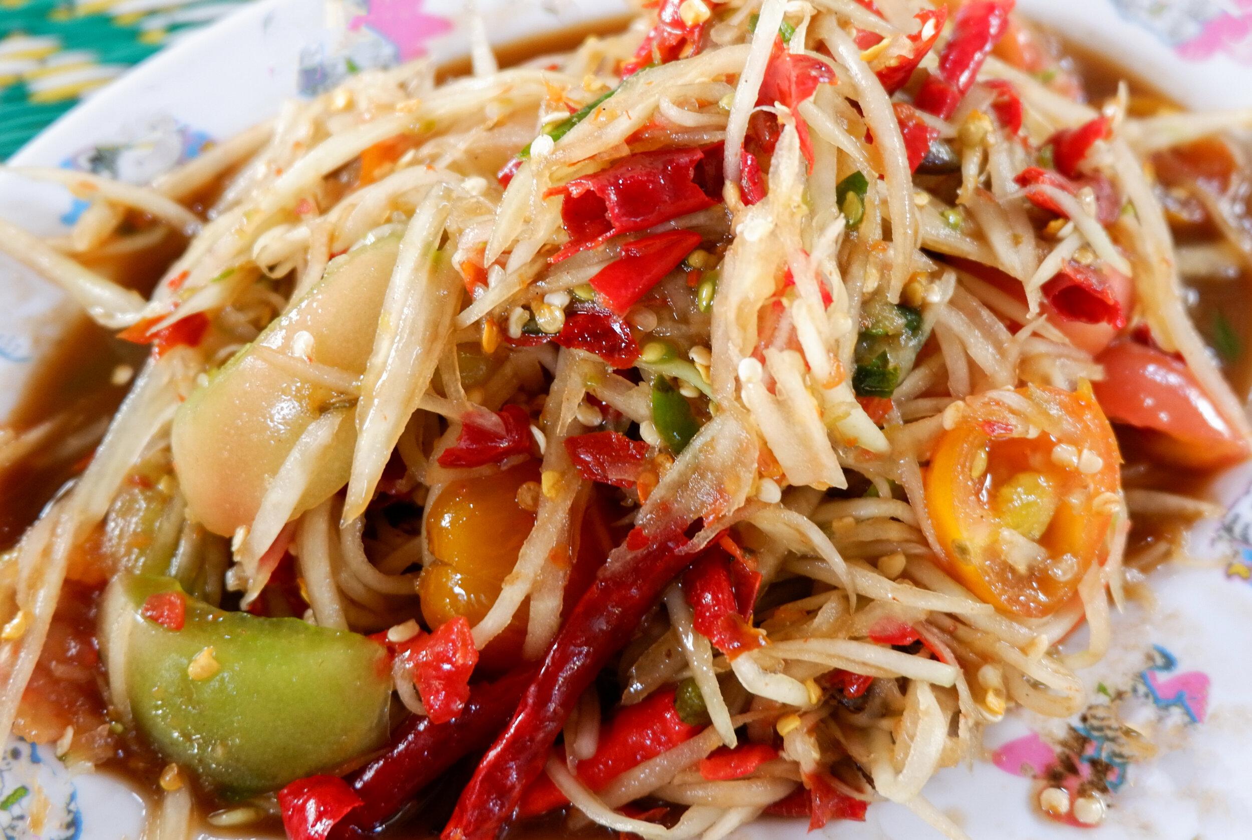 Papaya Salad, a dish bursting with Thai flavors