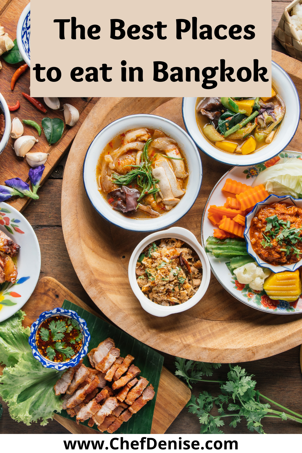 Pin for best places to eat in Bangkok
