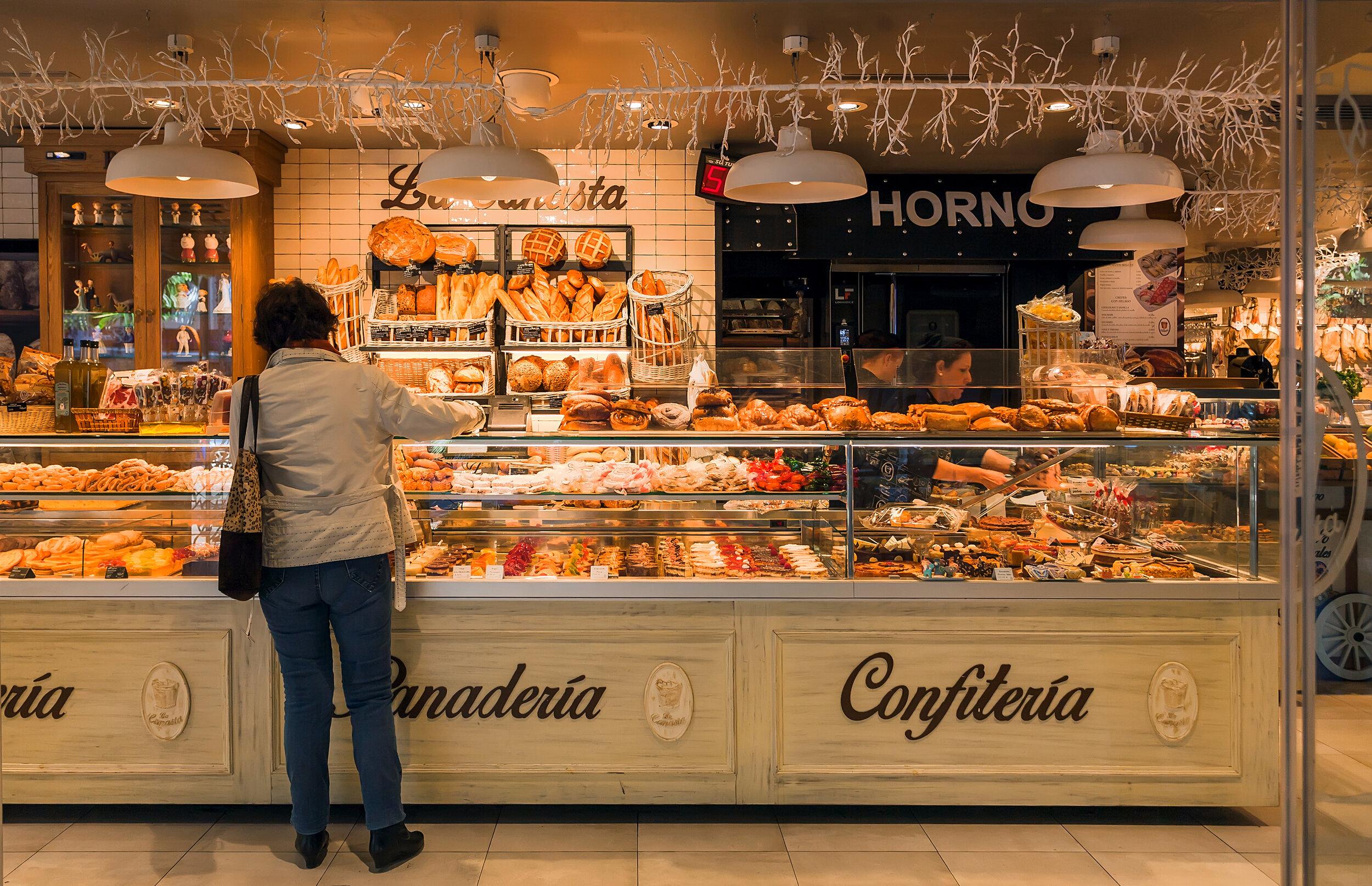 Popular bakery in Malaga
