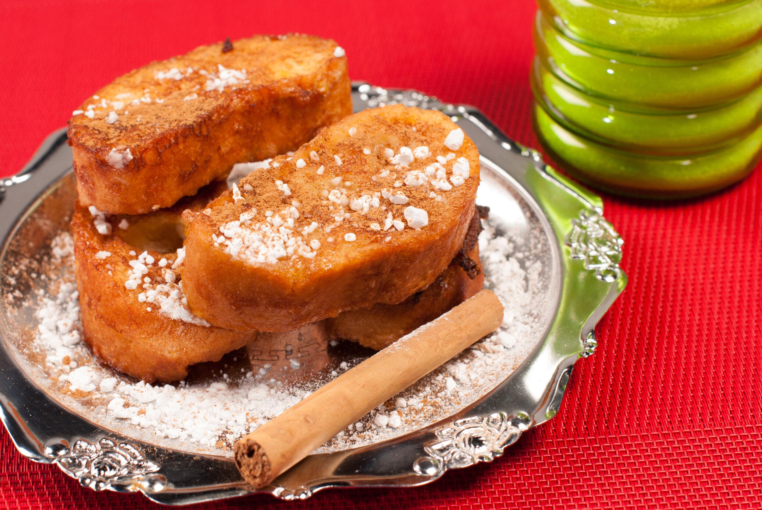 Tasty Malaga sweet, Torrijas, Spanish-style French toast