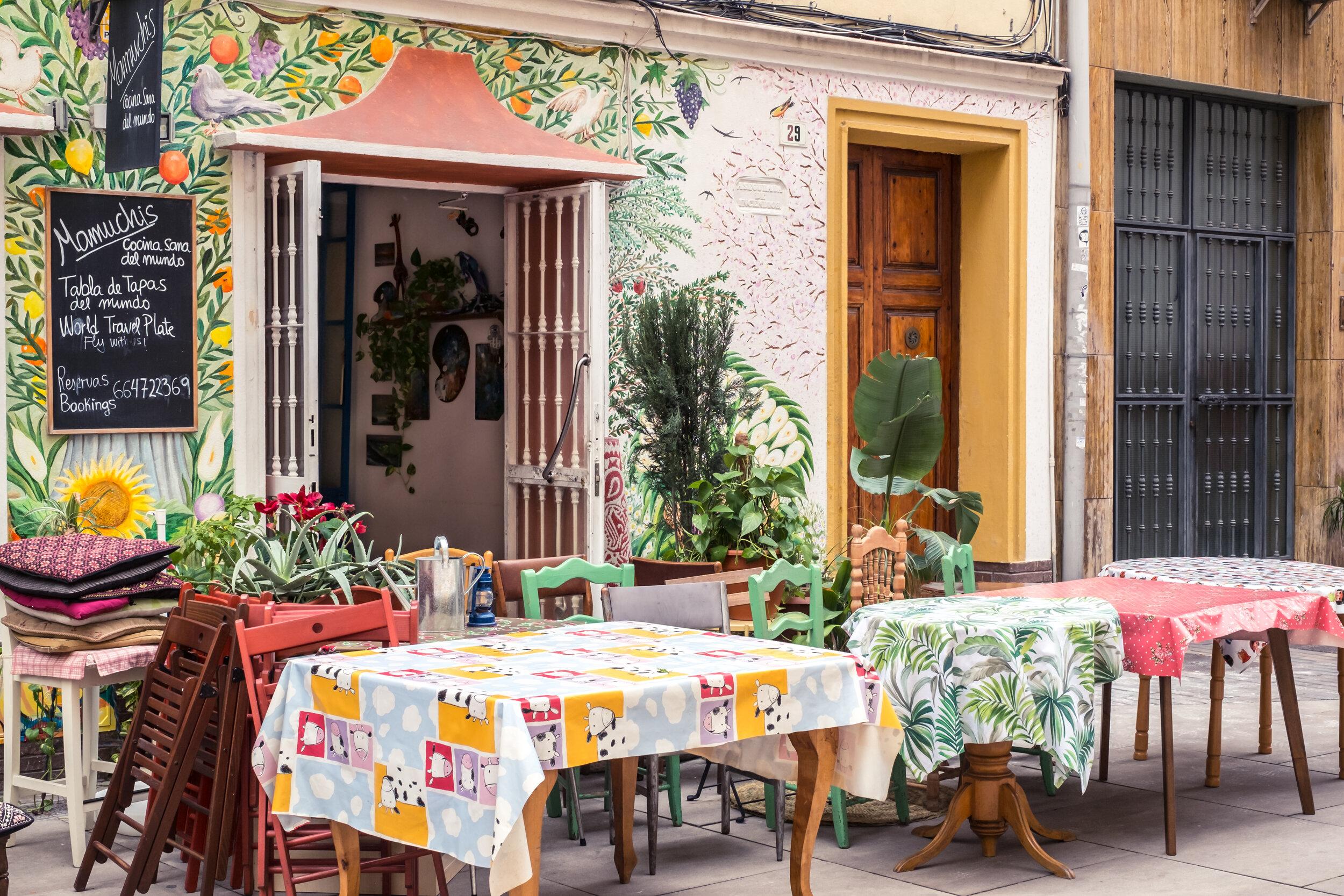Colorful Malaga restaurant