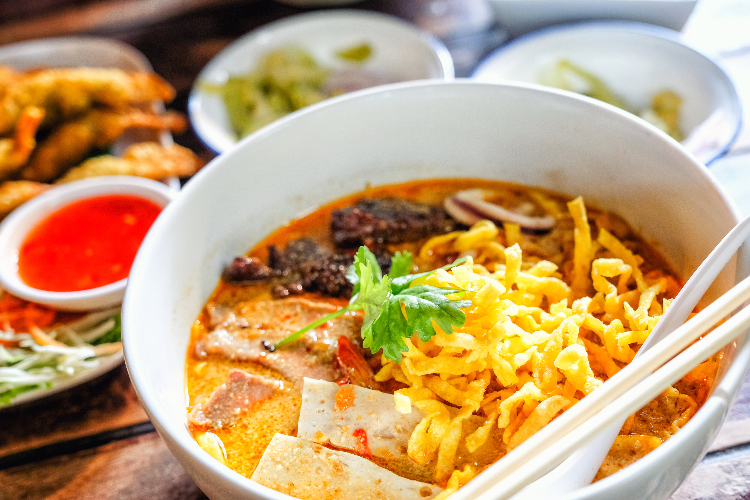 The most famous Chiang Mai food, Khao Soi