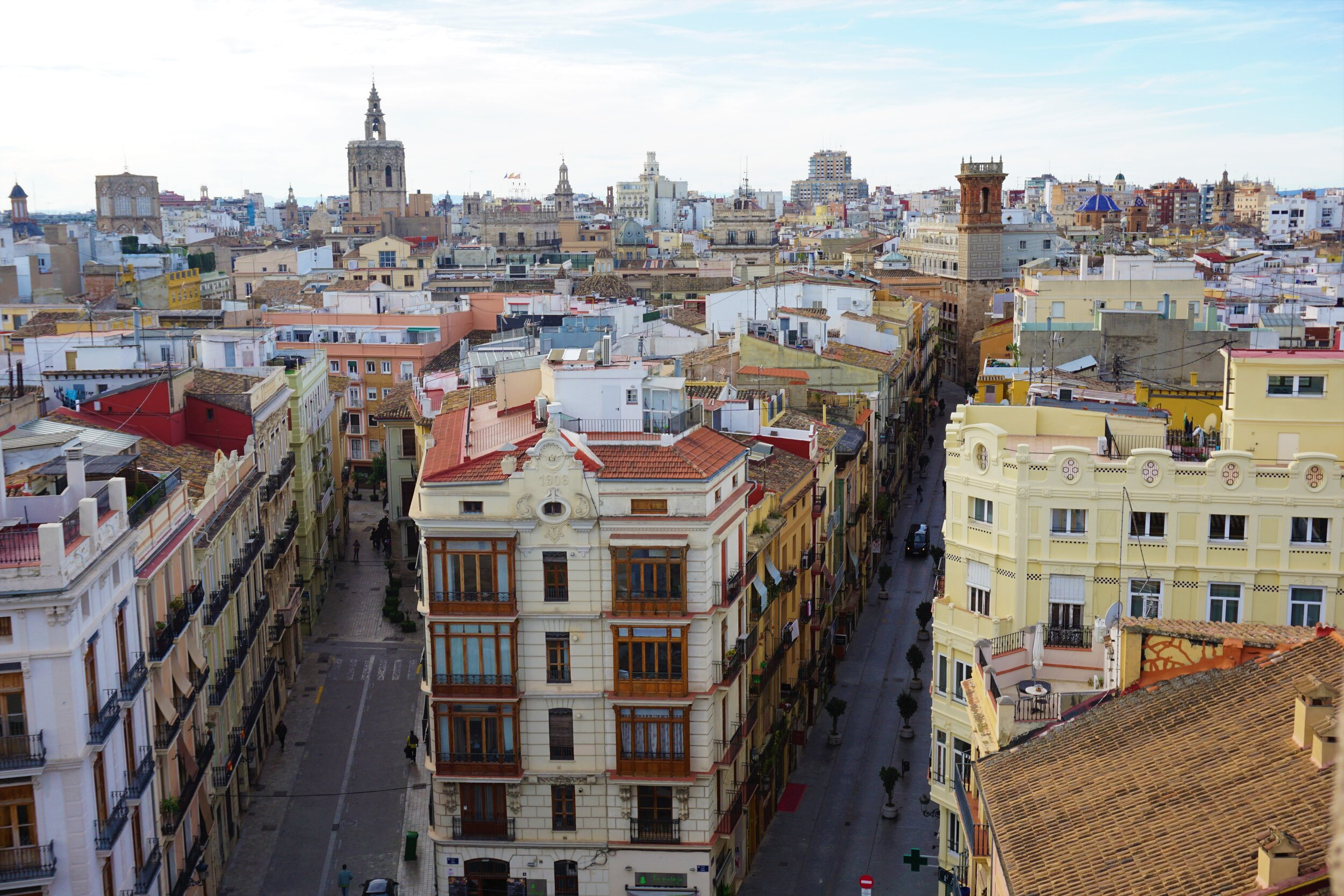The city center where you can find some of the best Valencia restaurants