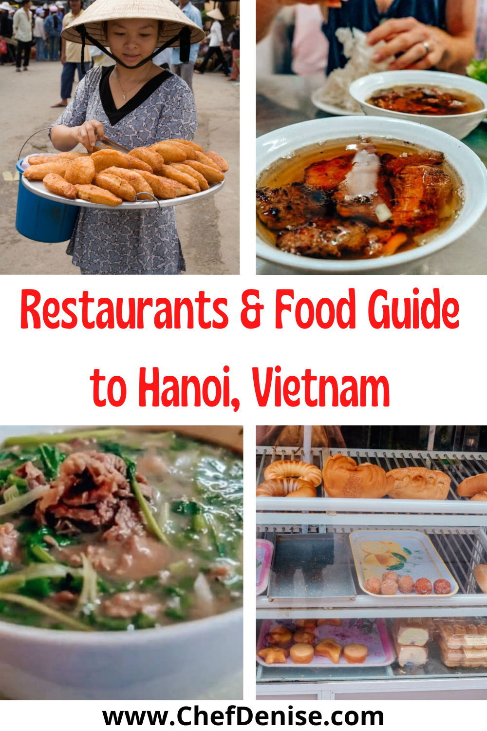 Pin for restaurants and food in Hanoi, Vietnam