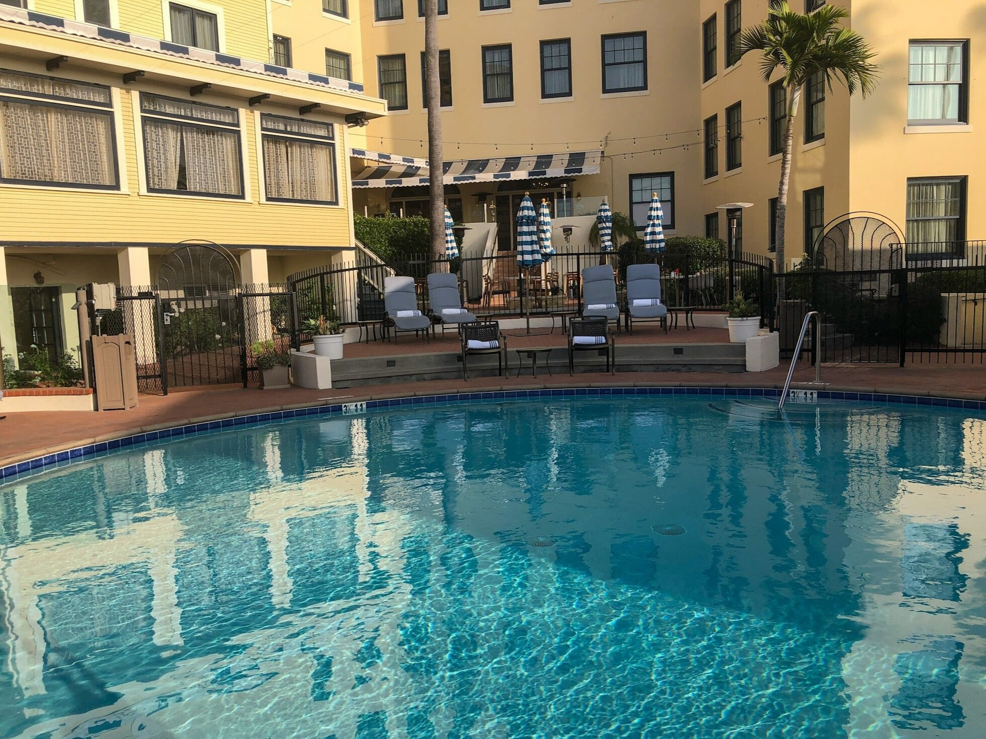 The pool at the Grande Colonial La Jolla Hotel