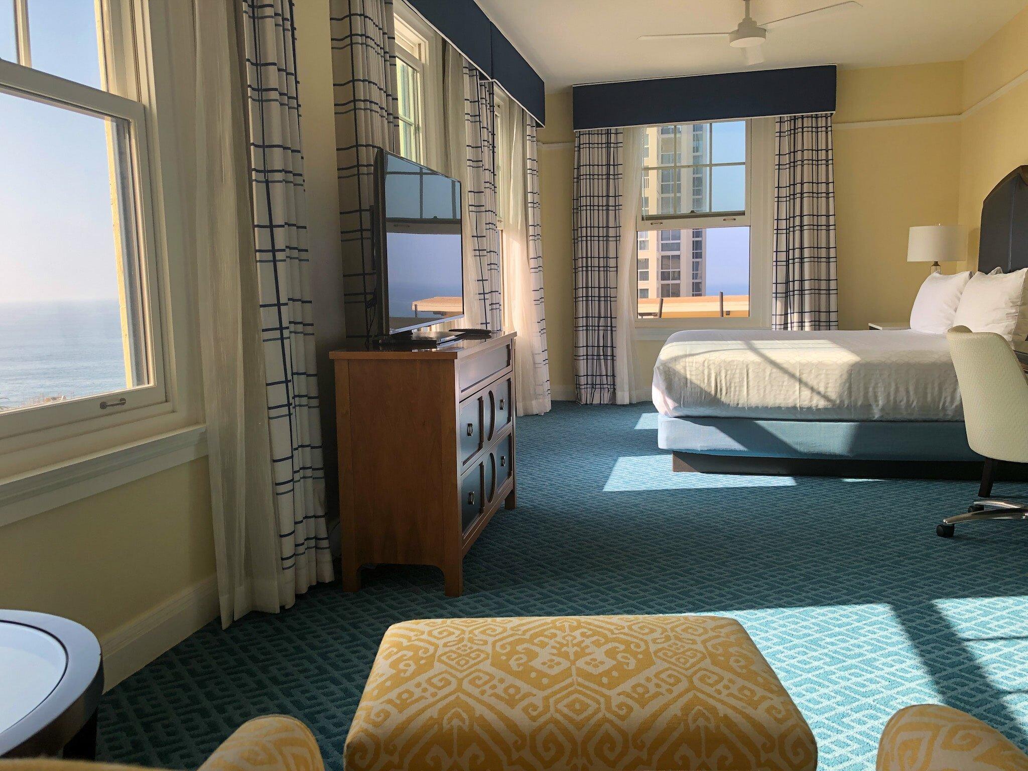 Ocean view room at Grande Colonial Hotel in La Jolla