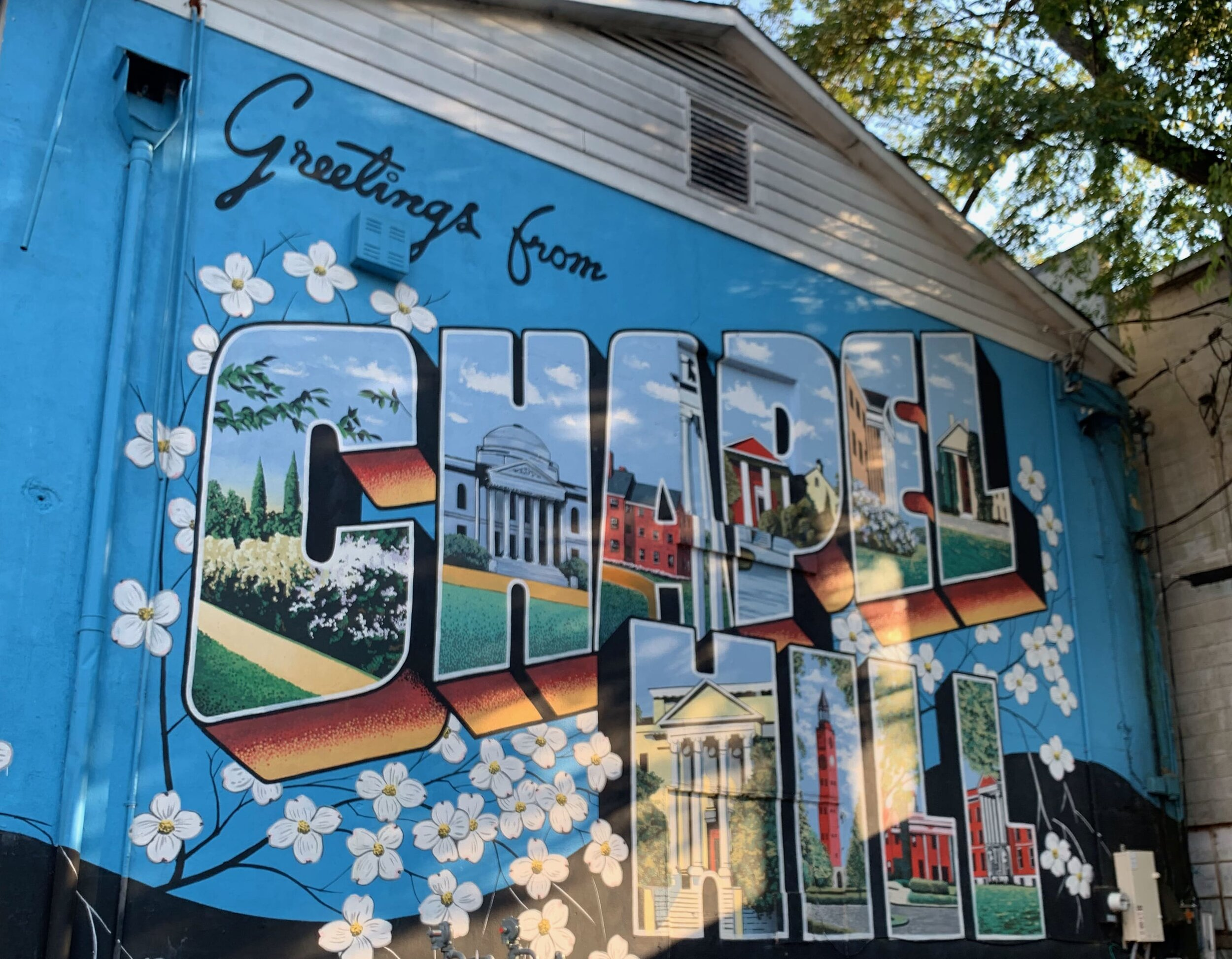 The mural for Chapel Hill, North Carolina
