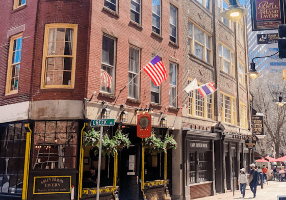 The Bell in Hand Tavern in Boston (Right) is the oldest tavern is America!