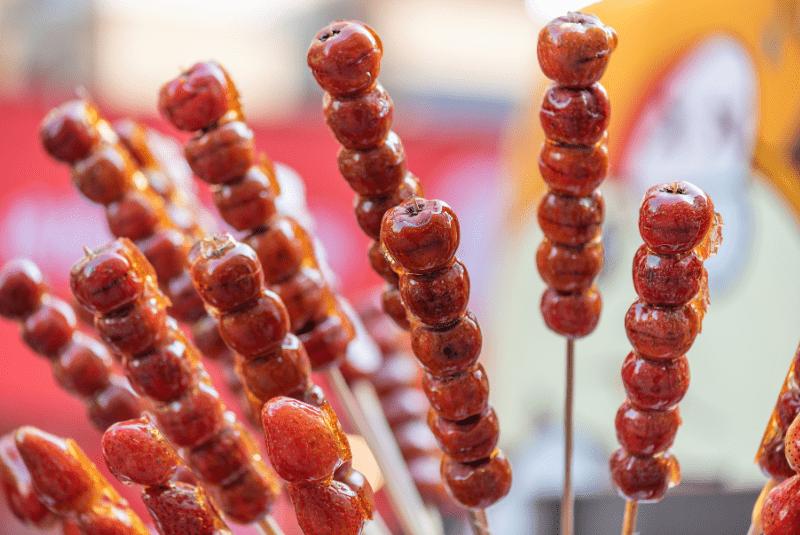 Beijing street food, Tanghulu (Hawthorne berries).